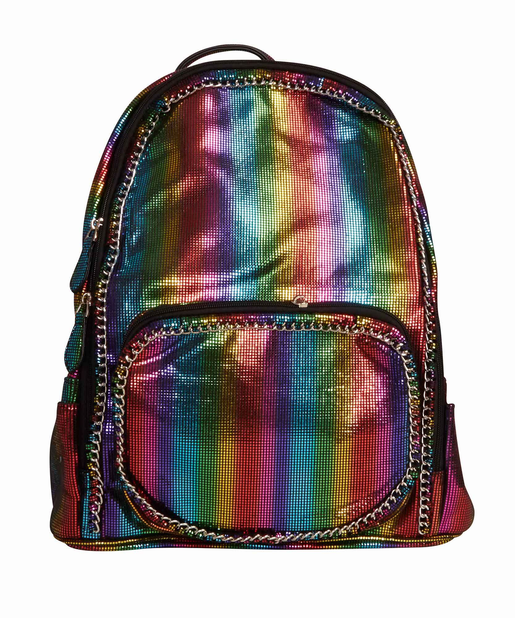 Bari Lynn Rainbow Chain Backpack