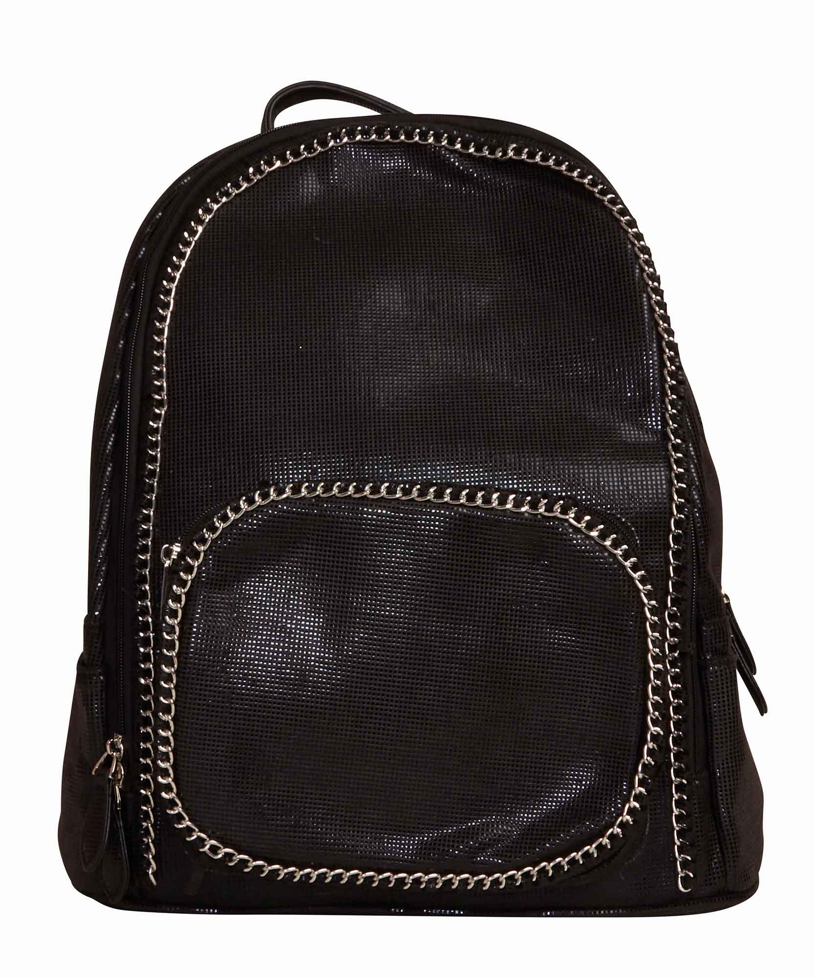 Black Chain Backpack