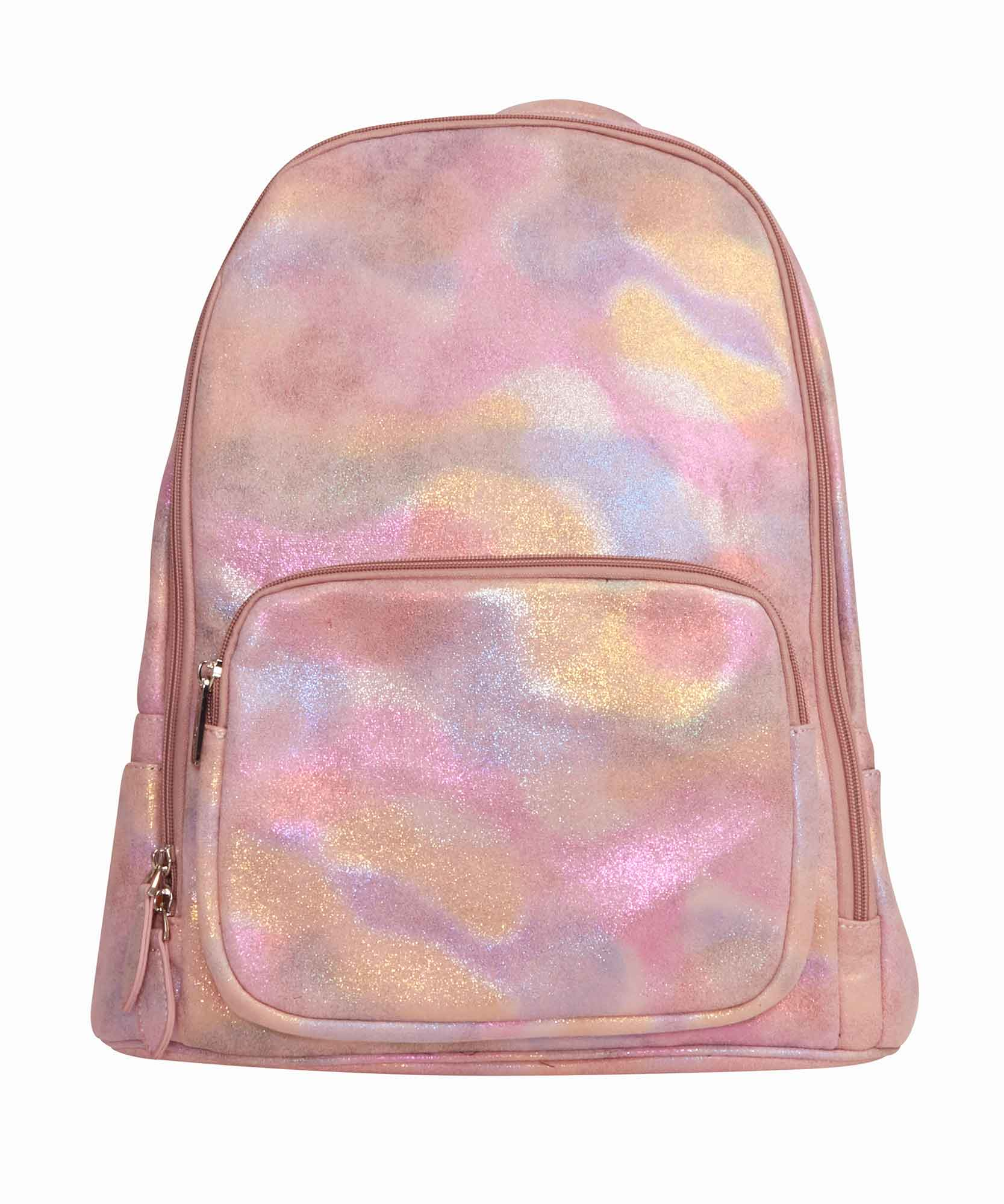 Bari Lynn Iridescent Pink Backpack