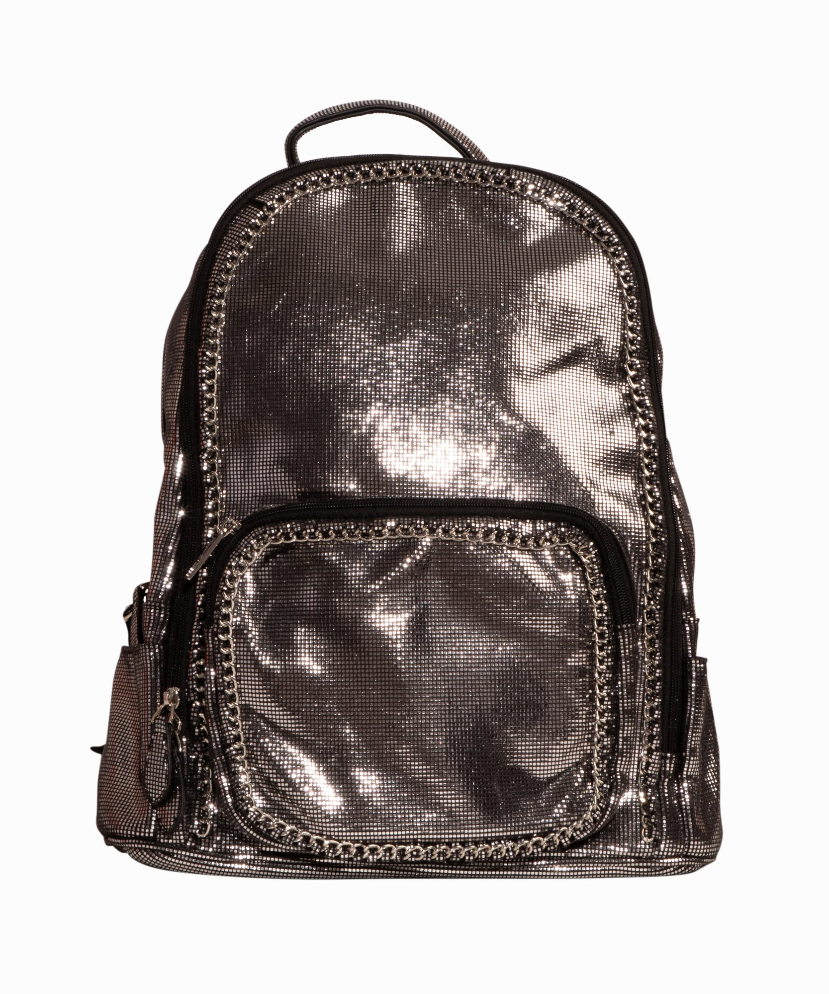 Gunmetal Chain Backpack