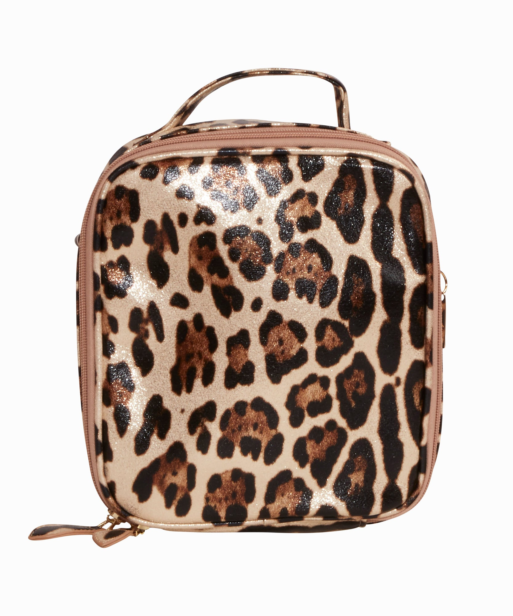 Gold Leopard Lunch Box