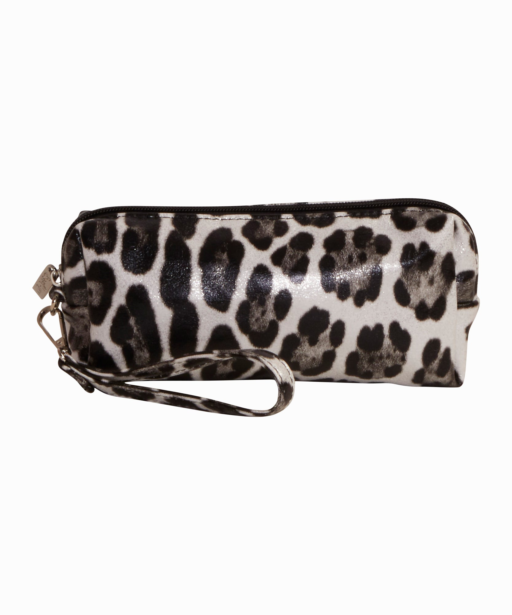 Silver Leopard Pencil Case