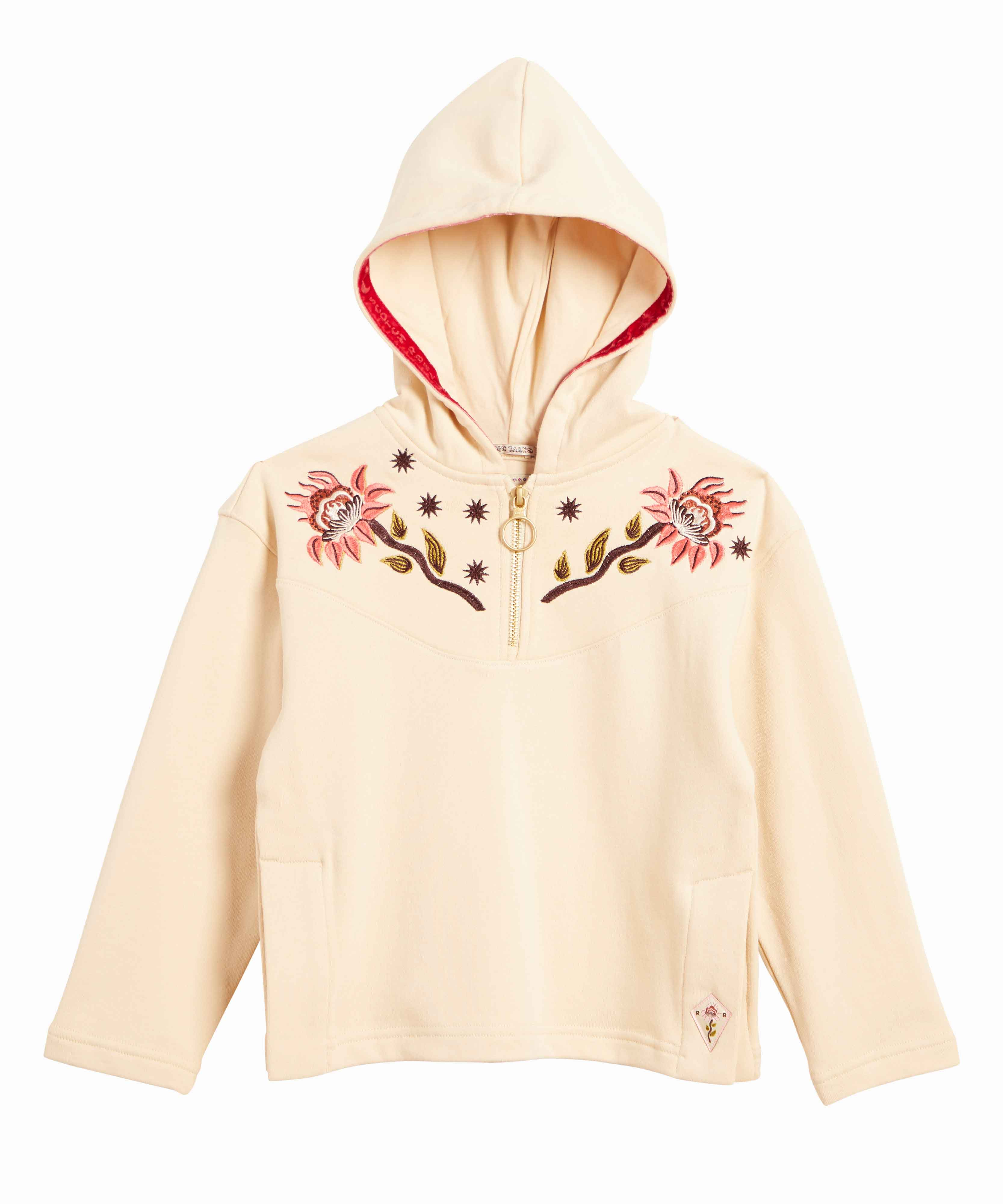 Scotch & Soda Embroidered Zip Up Hoodie