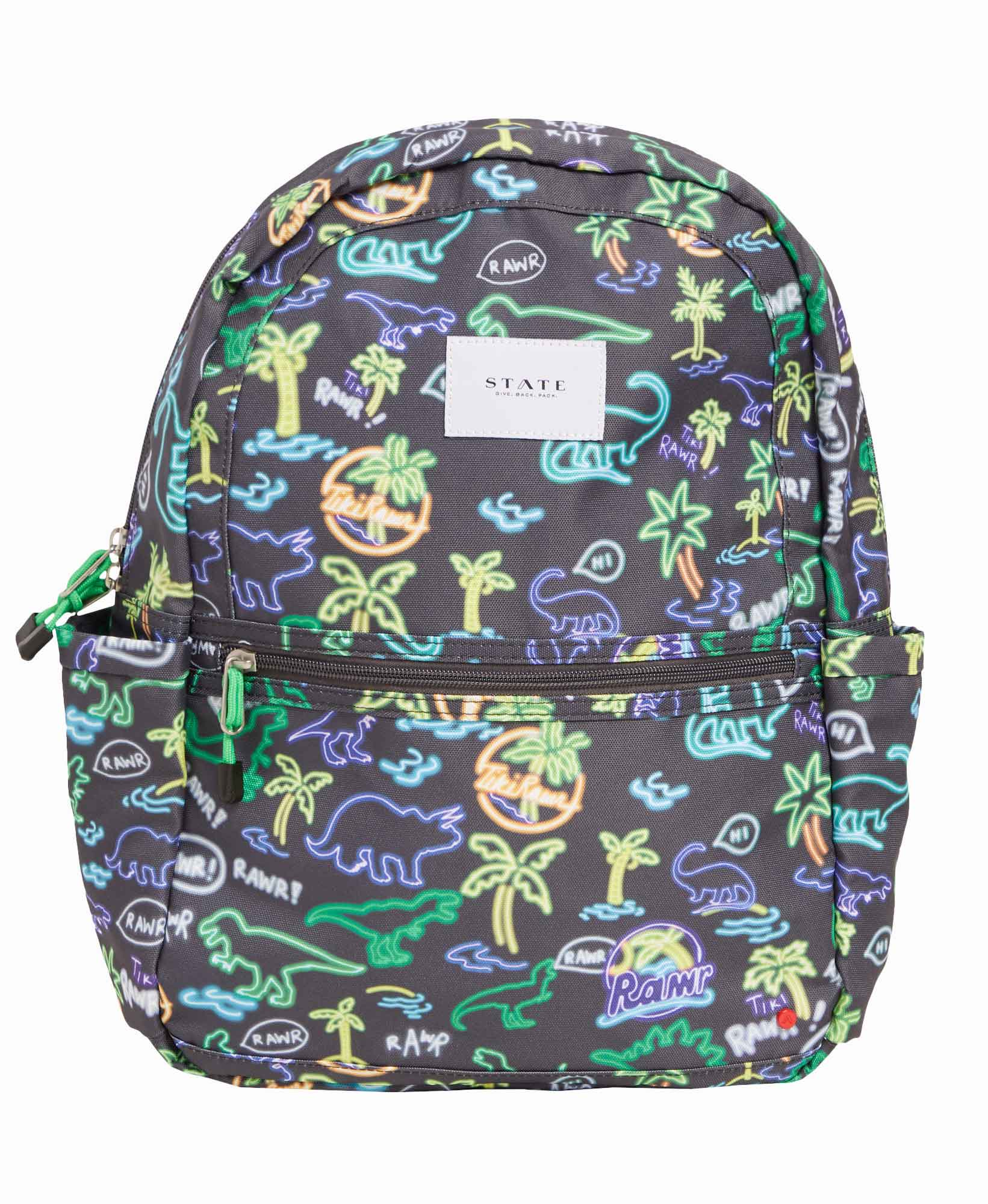 State Kane Neon Dino Backpack