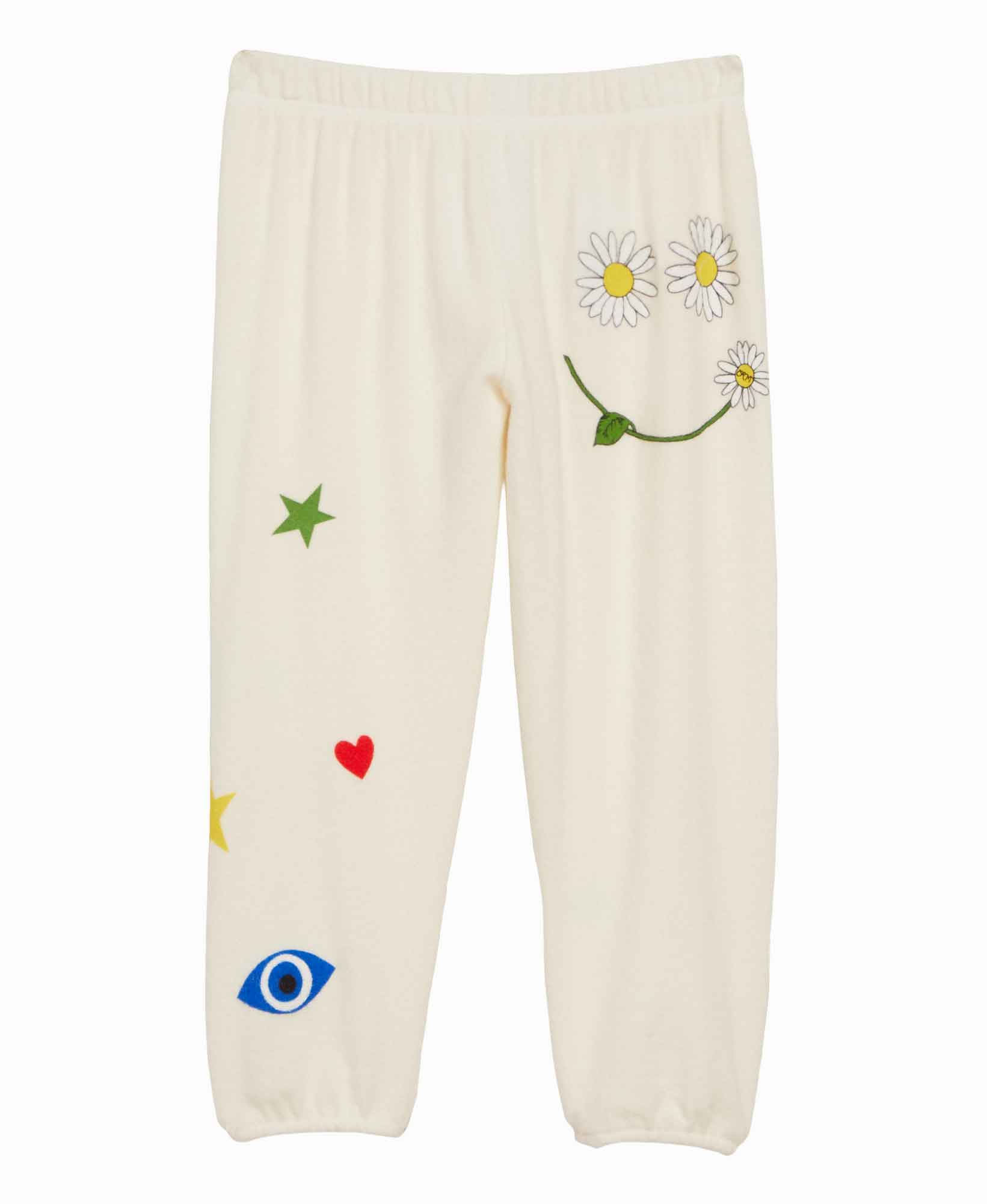 Lauren Moshi Daisy Happiness Sweatpants