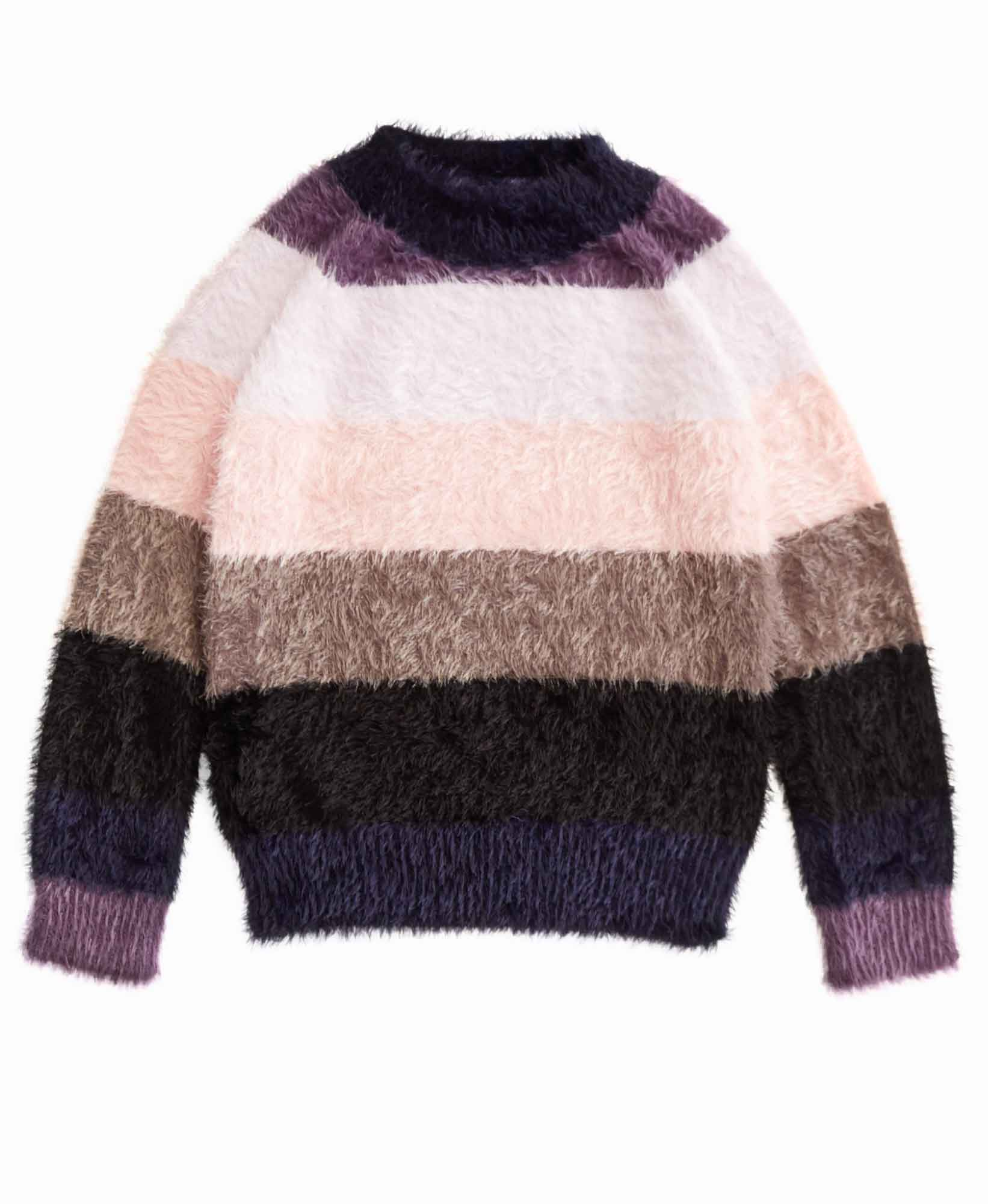 Imoga Fuzzy Stripe Sweater