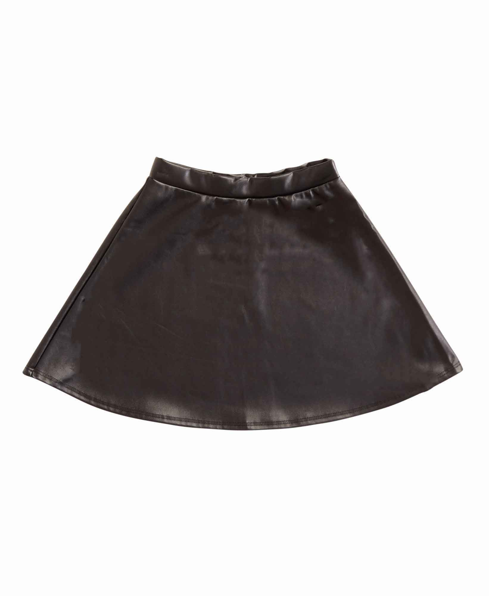 Me.N.U. Faux Leather Skater Skirt