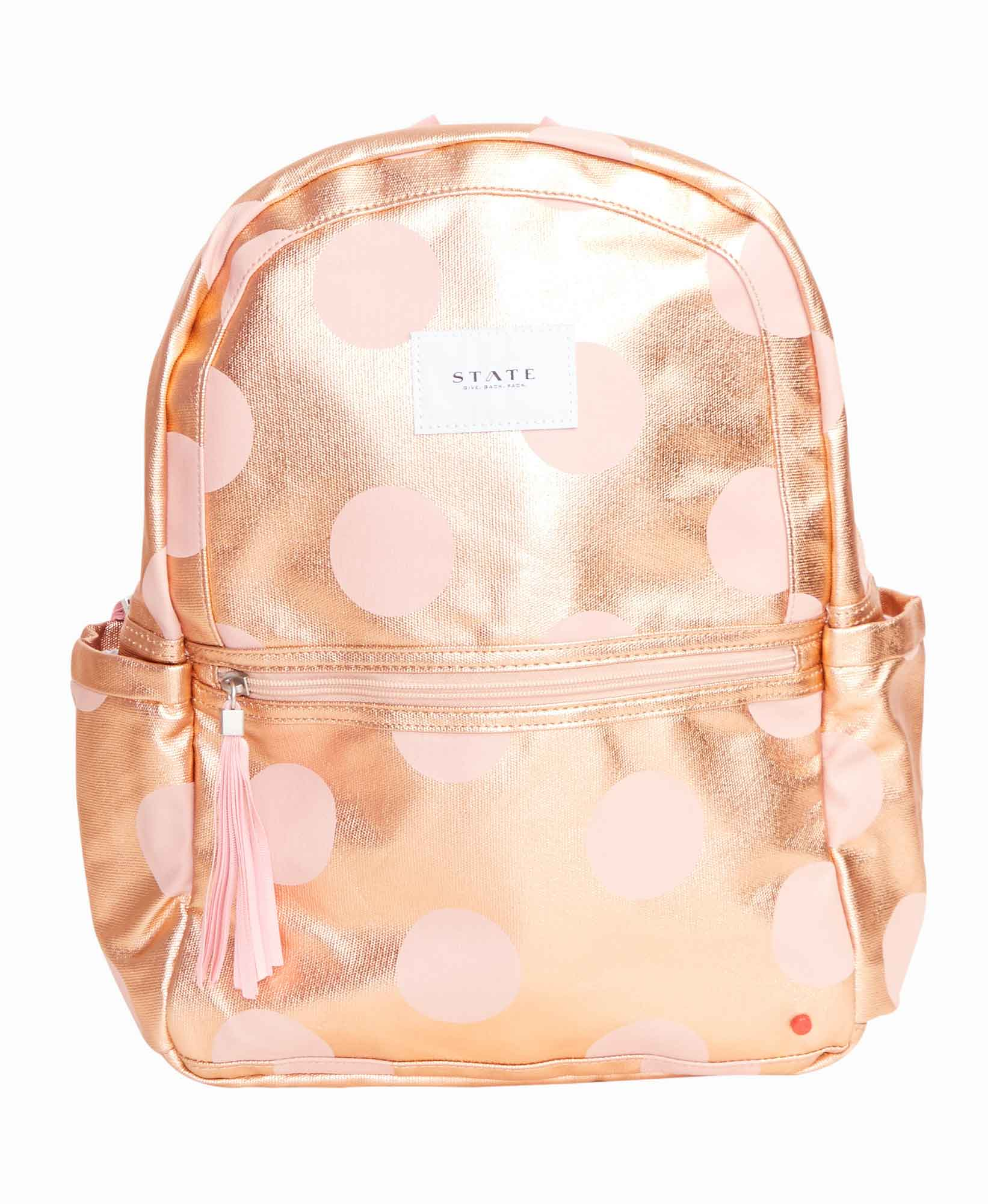 State Bags Rose Gold Kane Backpack