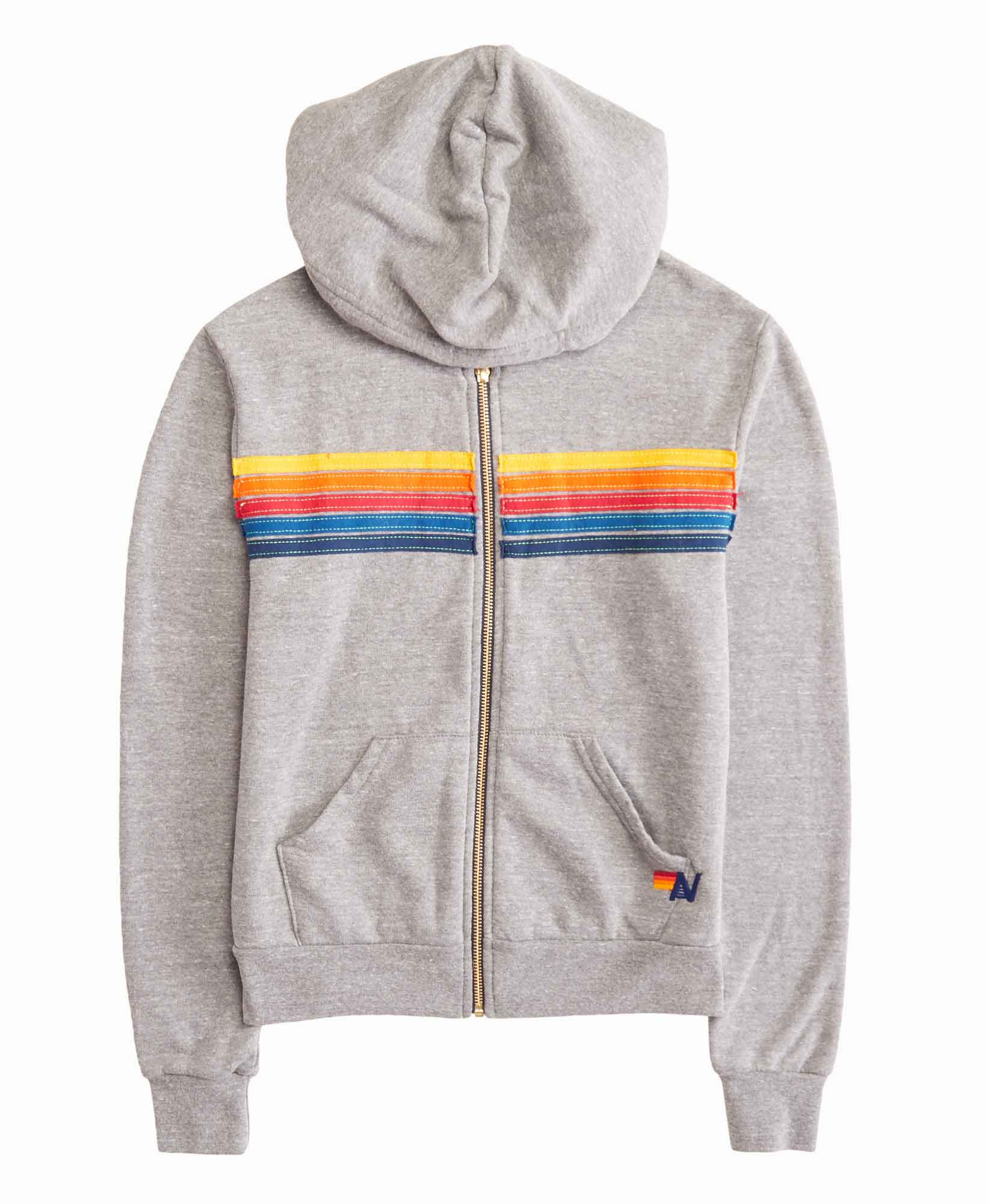 Aviator Nation 5 Stripe Hoodie Sweatshirt