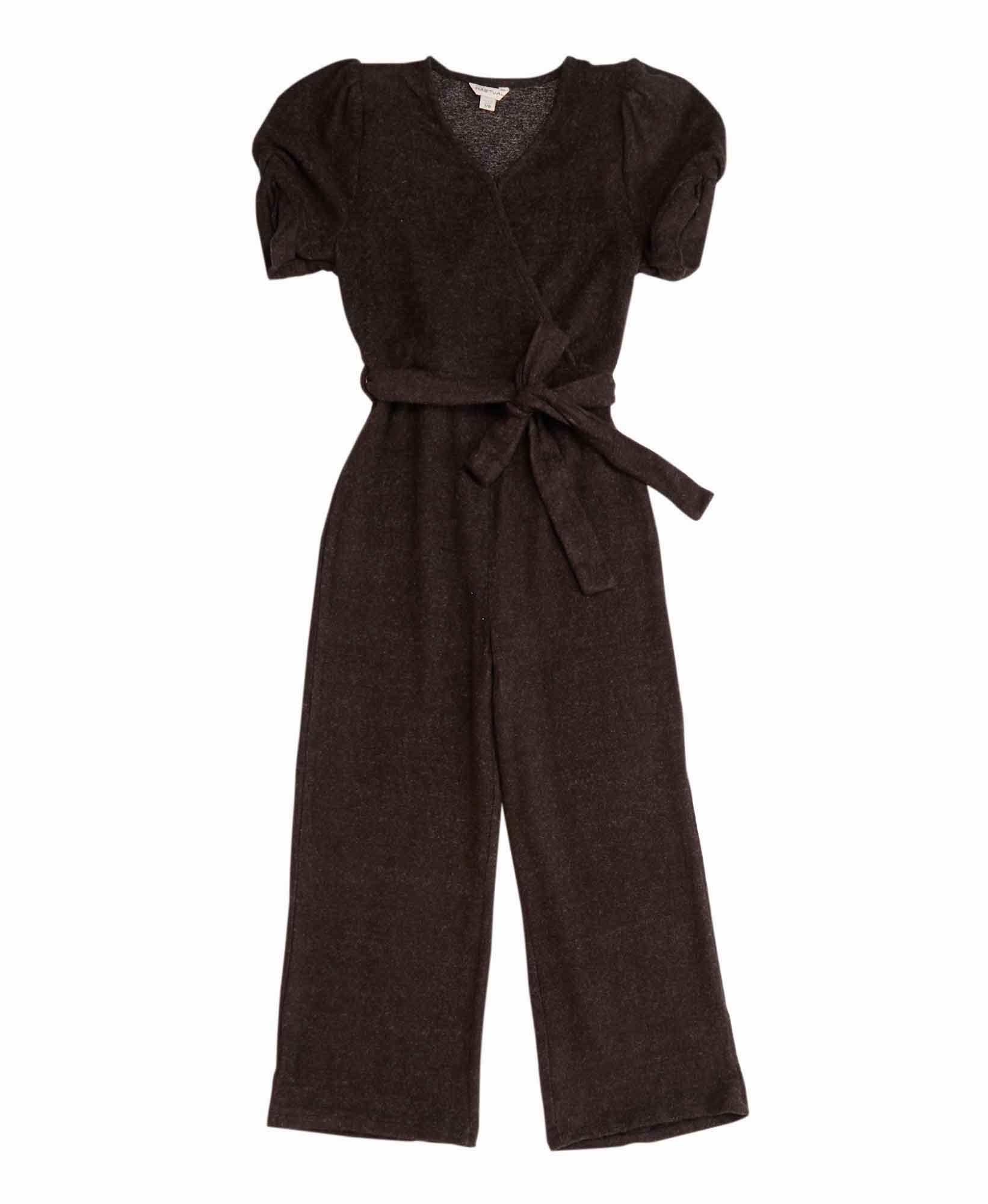 Habitual Girl Wrap Jumpsuit with Puff Sleeve