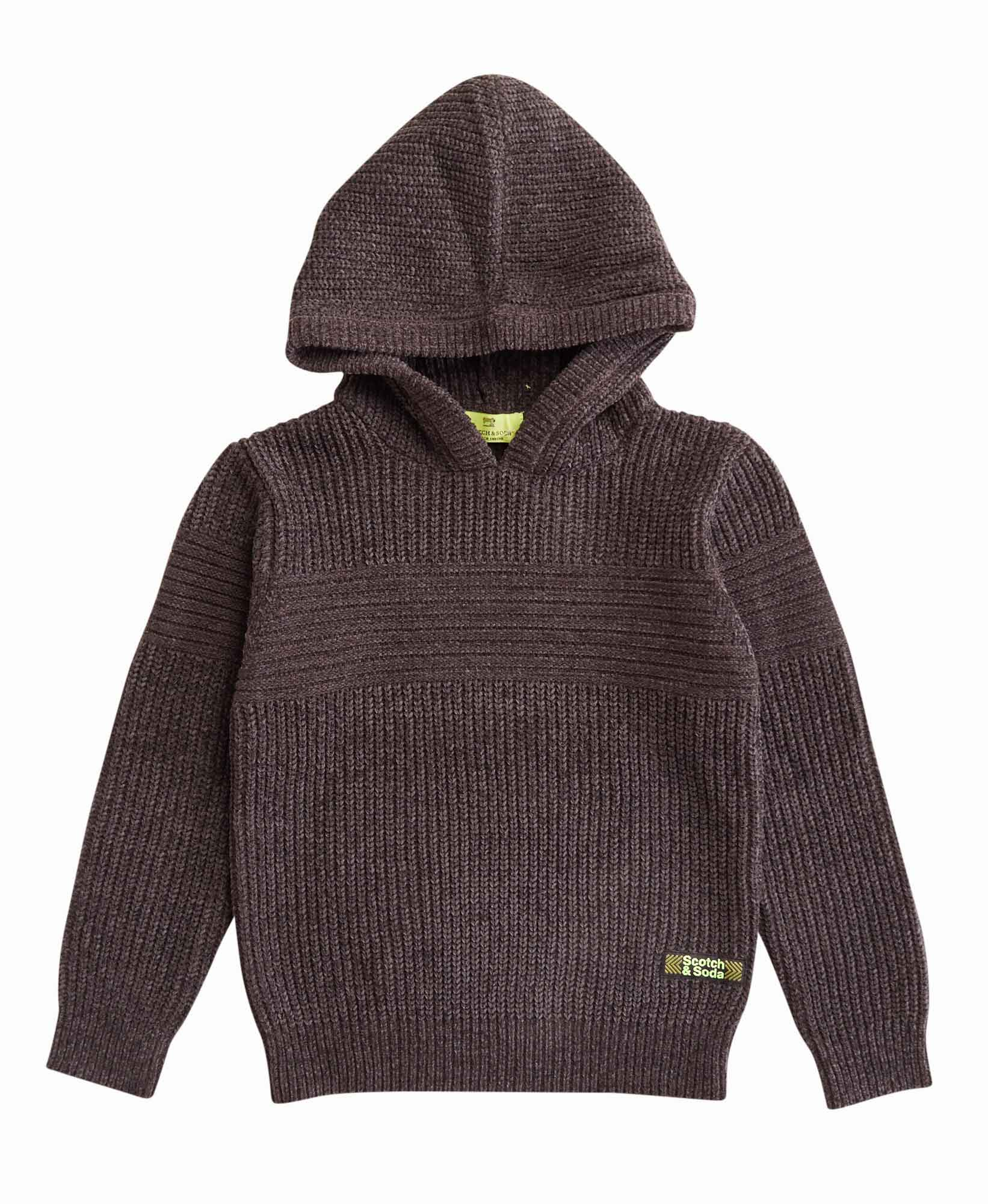 Scotch & Soda Ribbed Hoodie Sweater