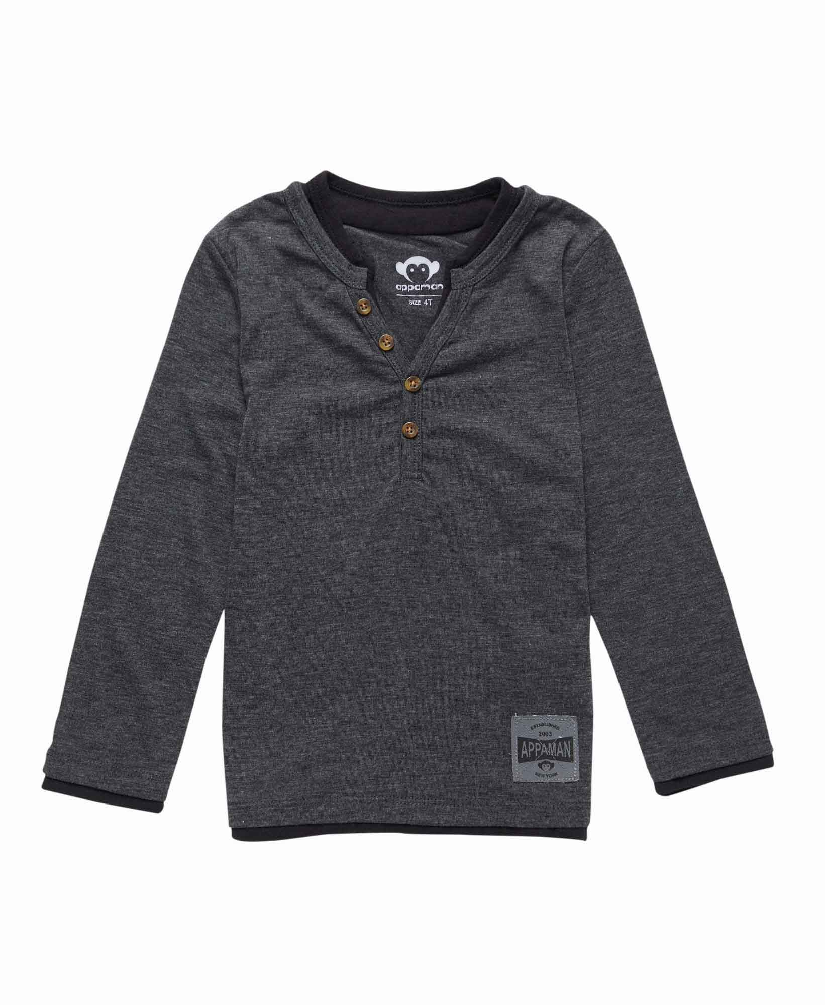 Appaman Long Sleeve Camden Henley