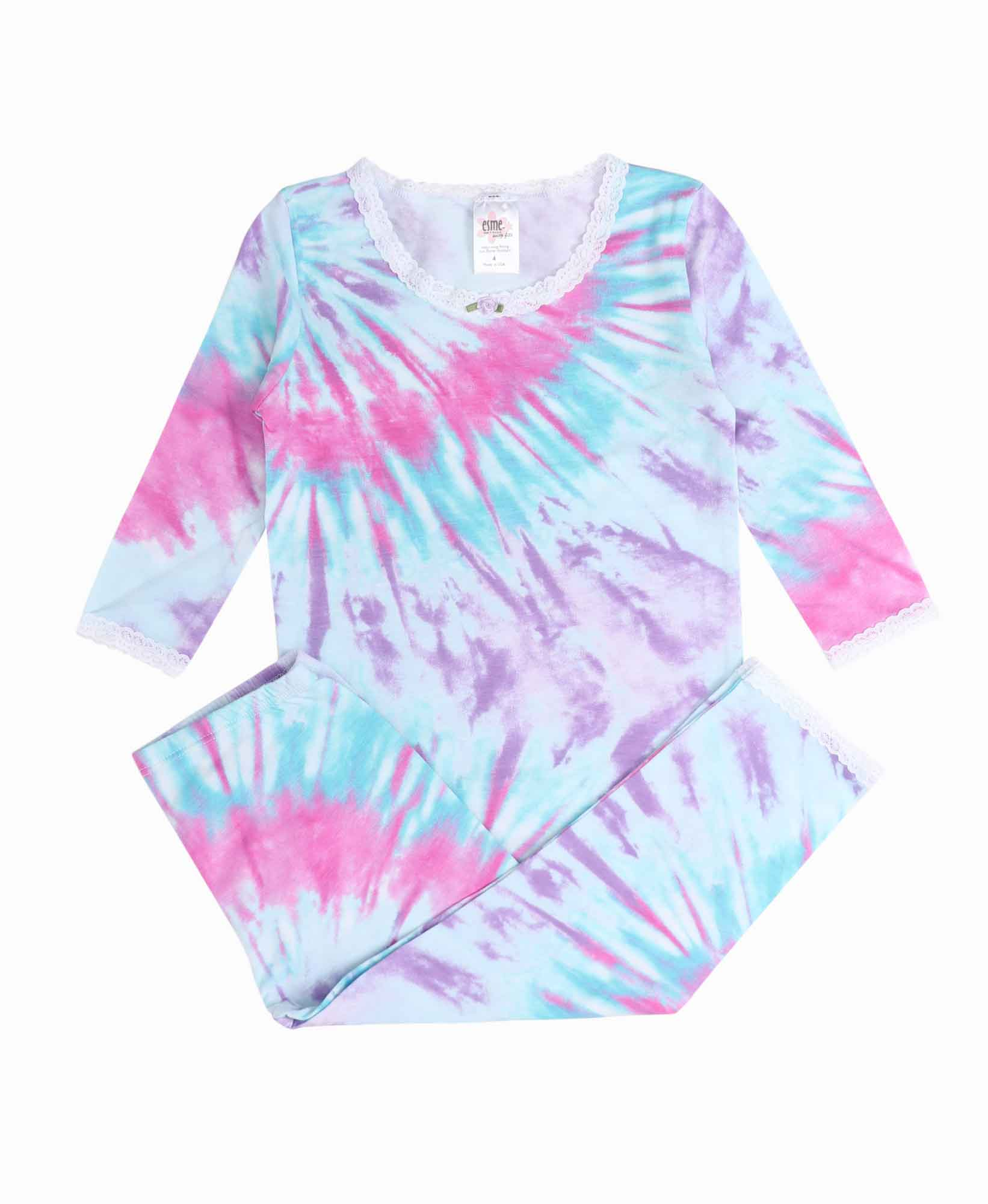 Esme Bright Tie Dye PJ Set