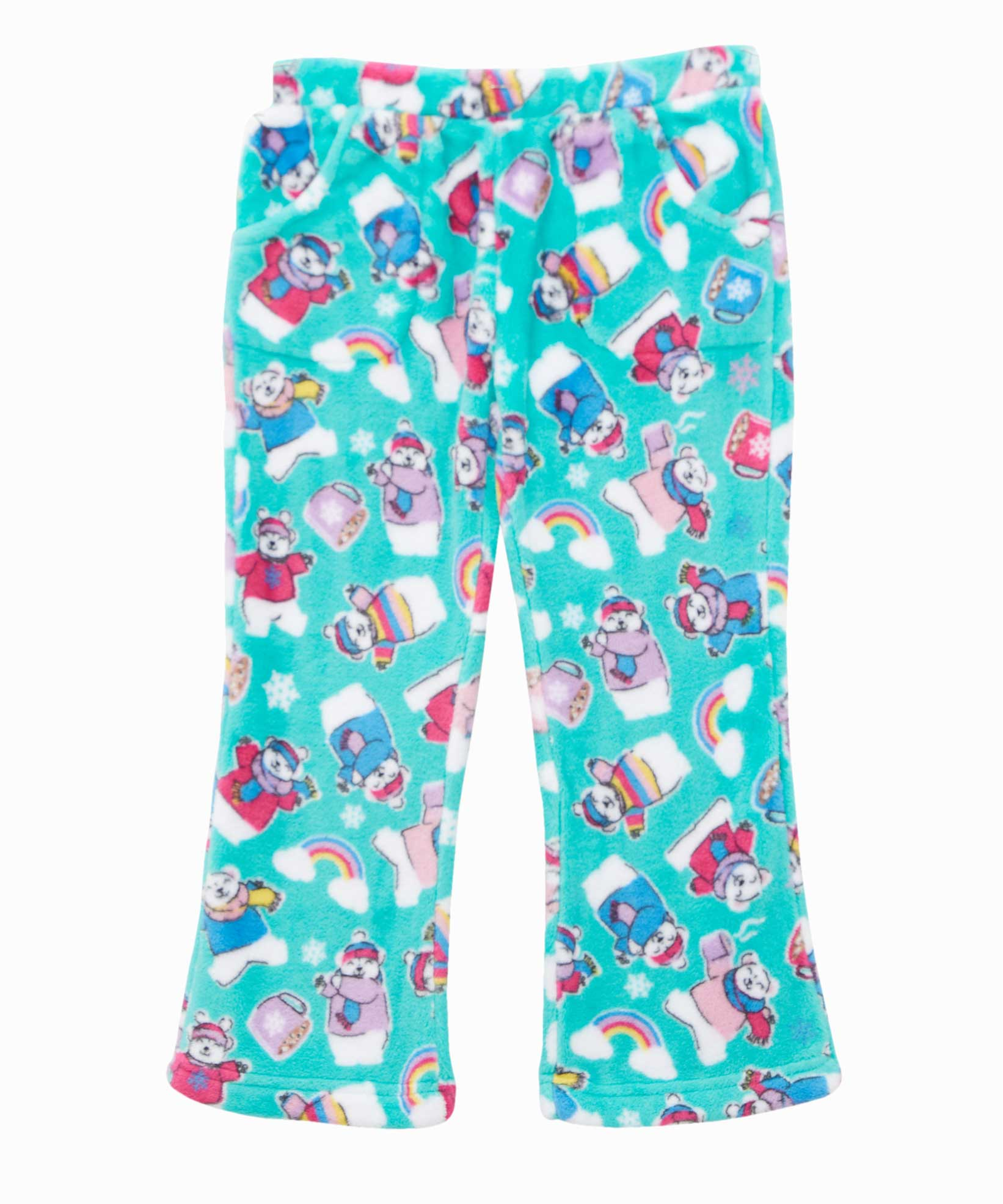 Candy Pink Polar Bear Pajama Pants