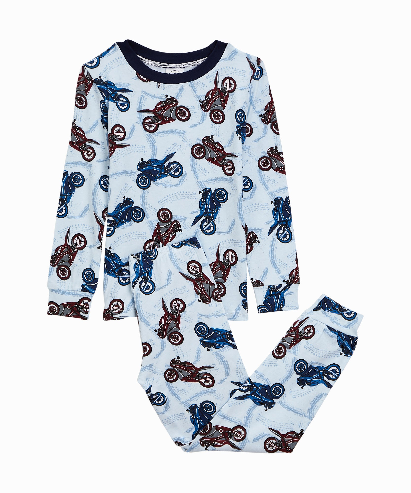 Motorcycle Blue PJ Set