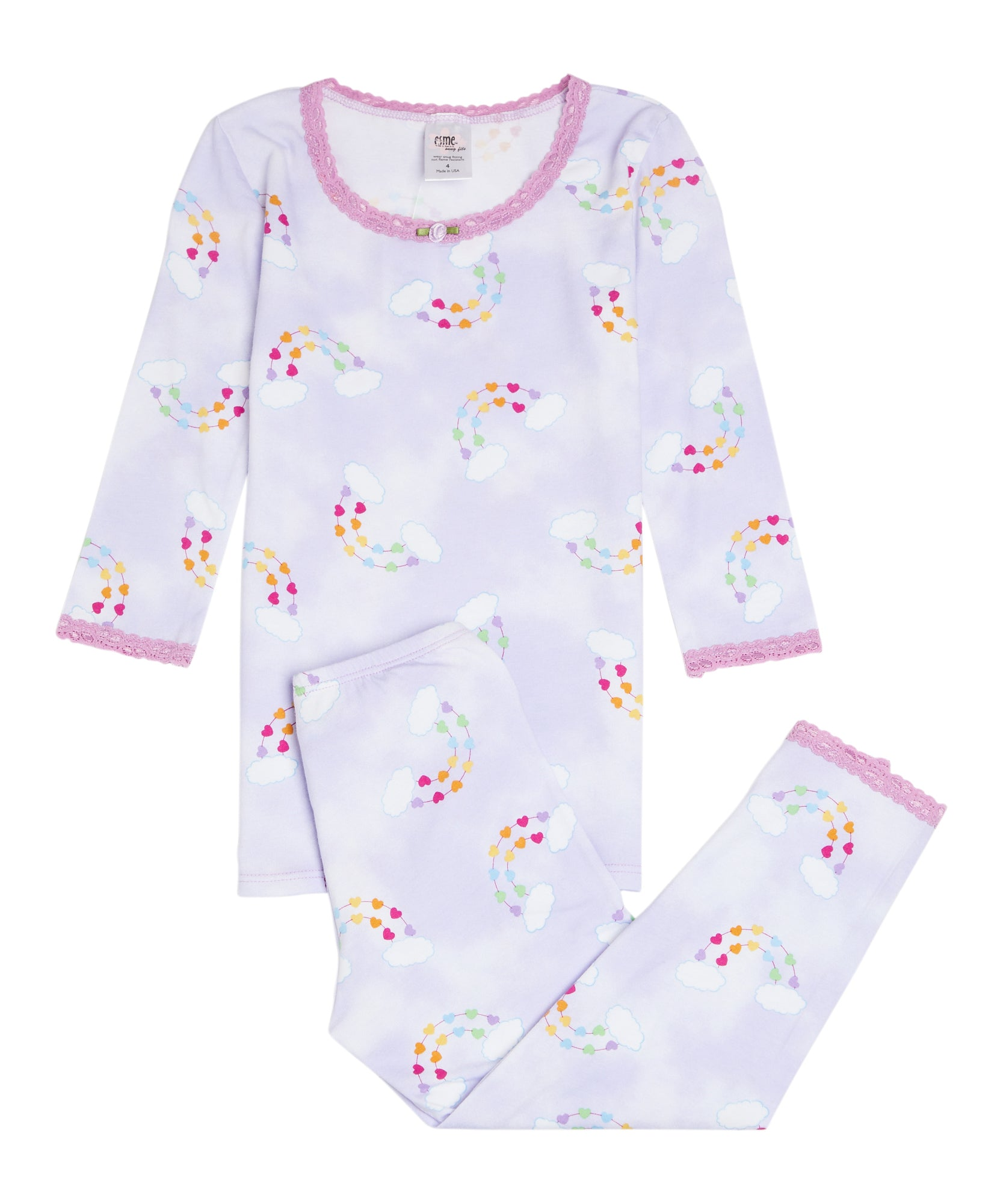 Rainbow Hearts PJ Set