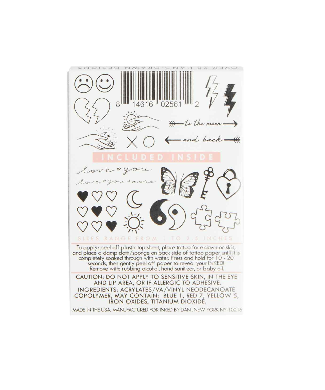 Temporary Tattoos Two Of A Kind Pack