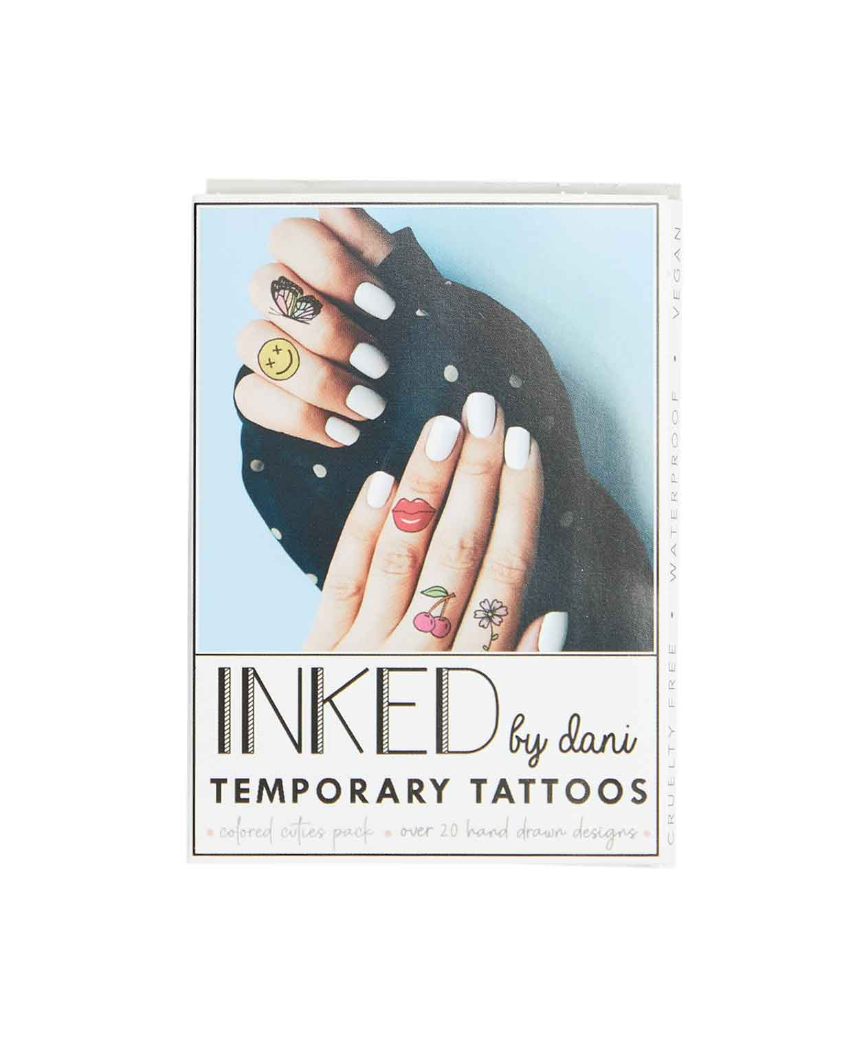 Temporary Tattoos Colored Cuties Pack