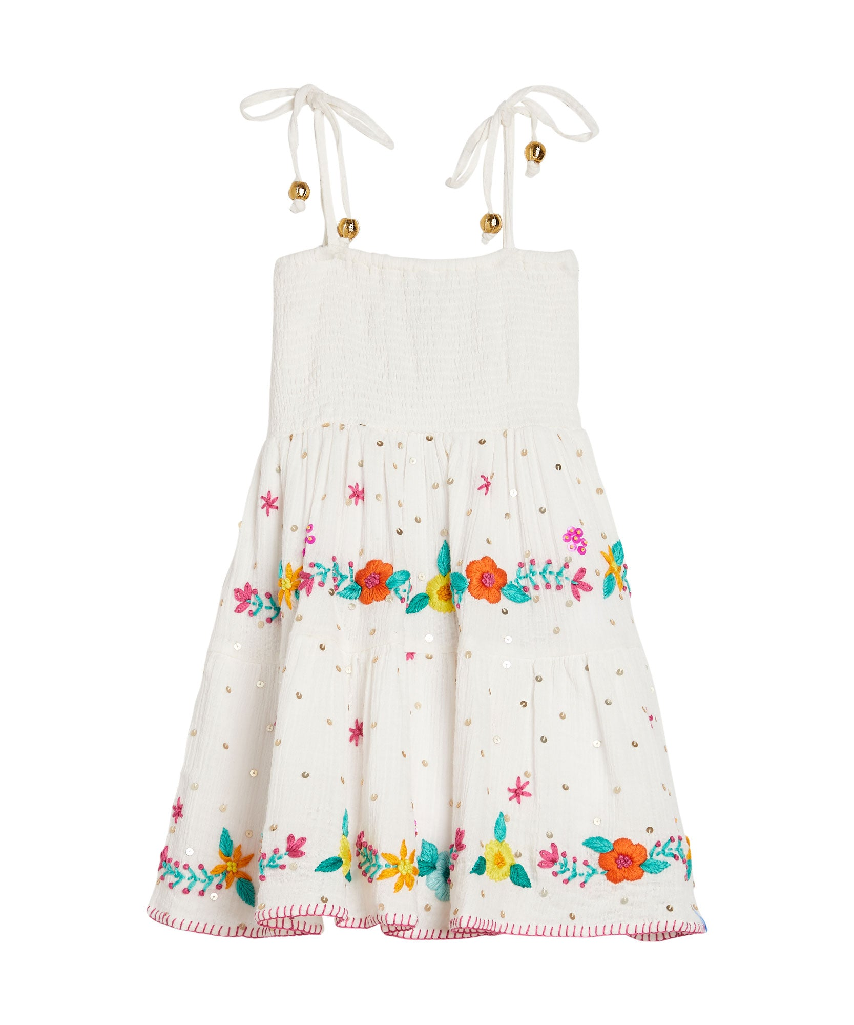 Embroidered Smocked Dress