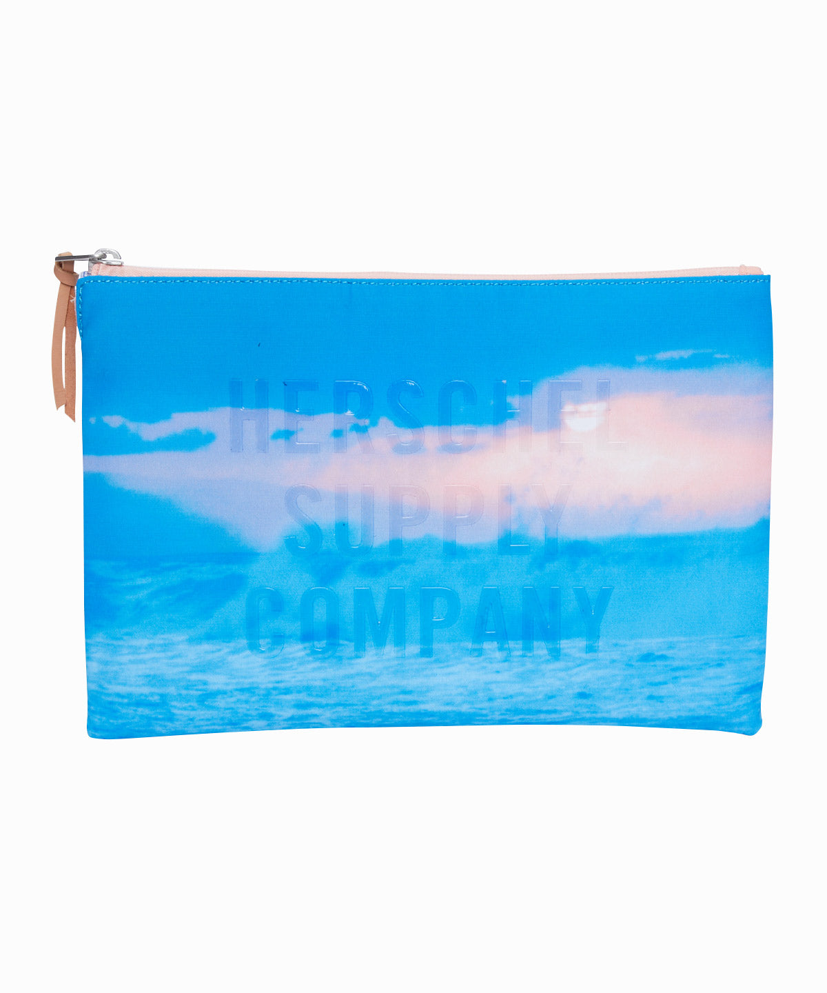Wave Network Zippered Pouch