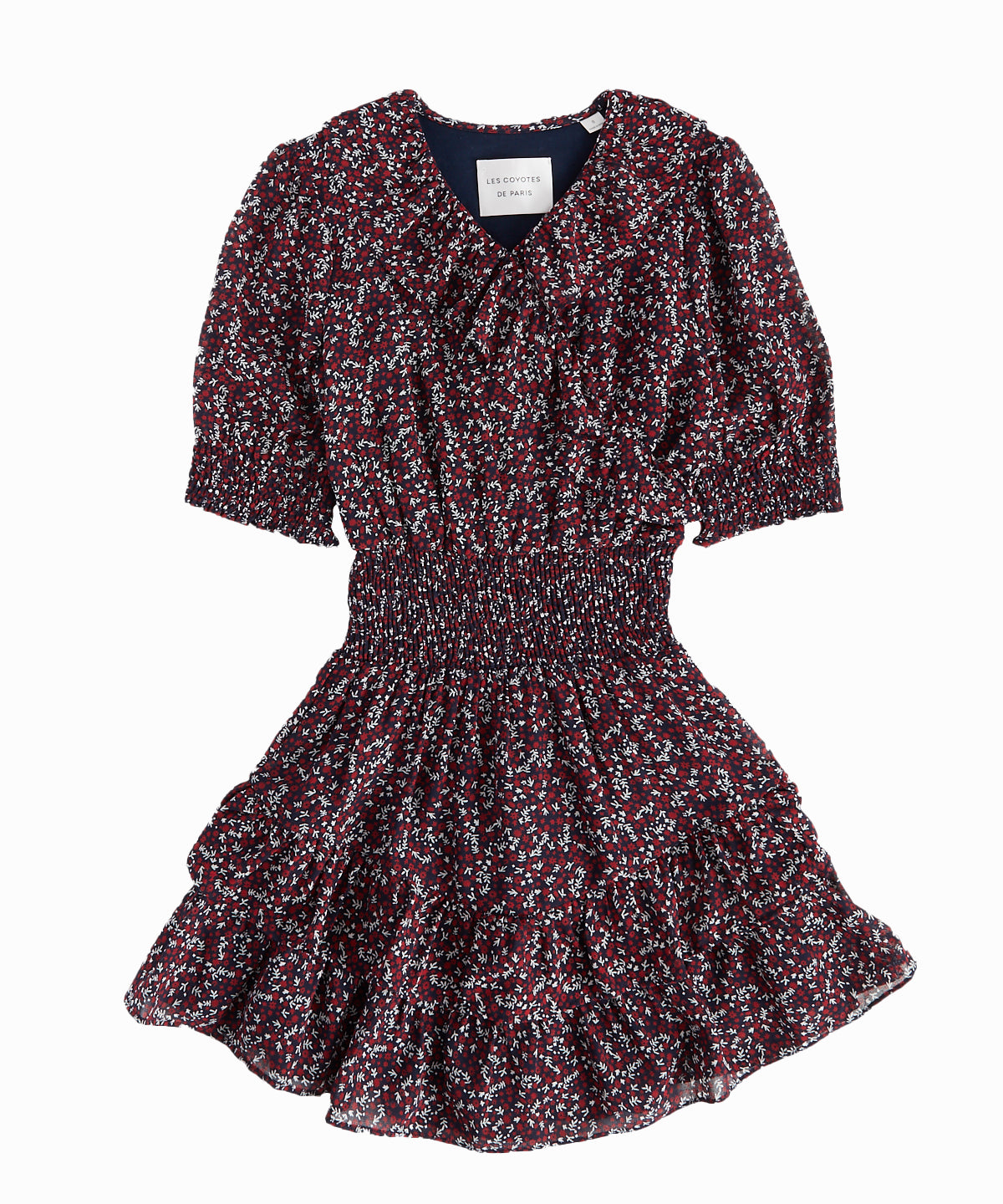 Stevie Printed Ruffle Dress