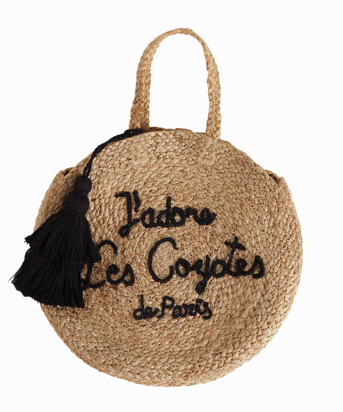 Jute Straw Signature Bag