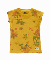 Overdyed Tropical Print Tee