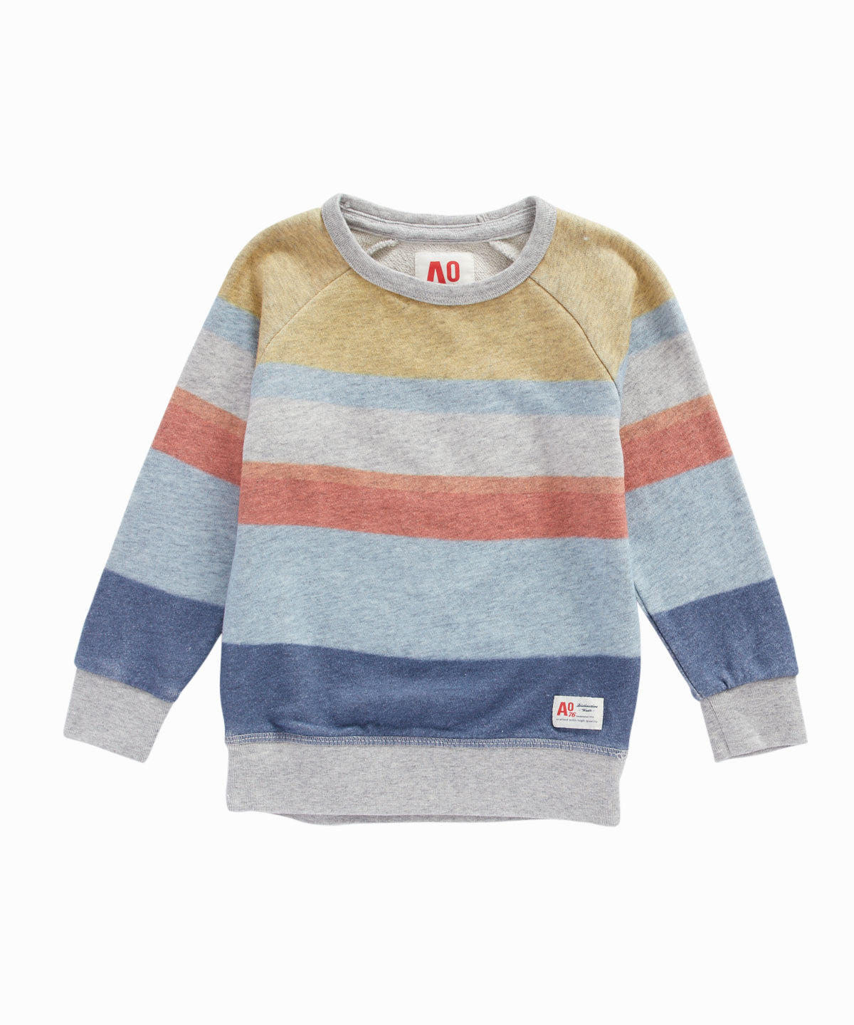 Wide Striped Pullover Sweatshirt