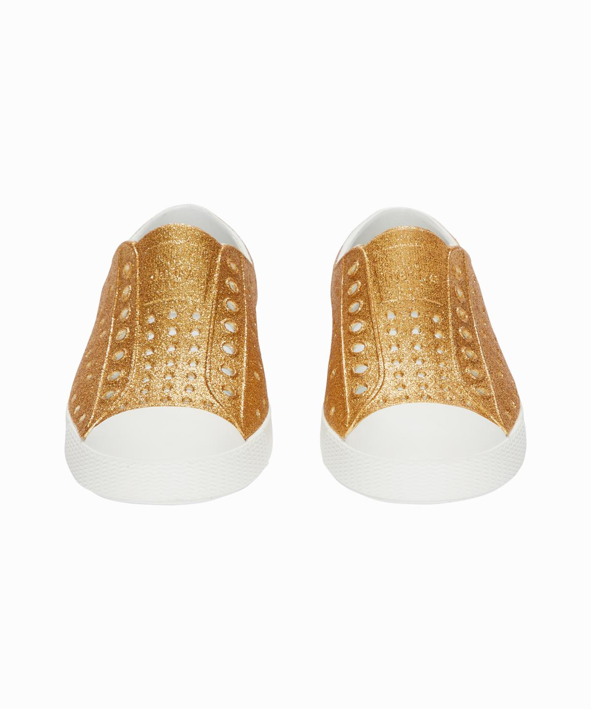 Jefferson Gold Glitter Slip-On Sneakers