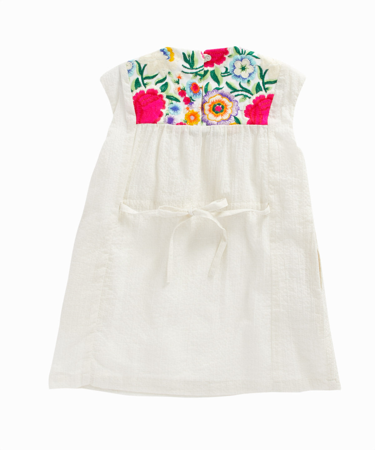 Ibiza Floral Embroidery Dress