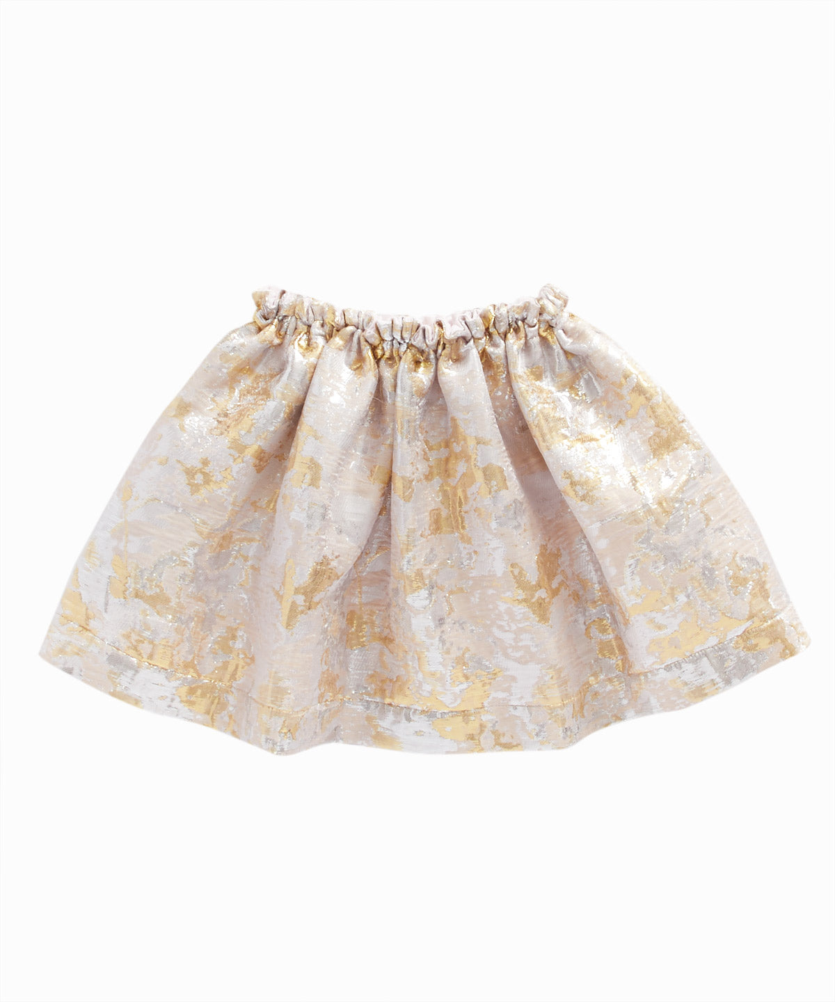 Metallic Jacquard Flare Skirt