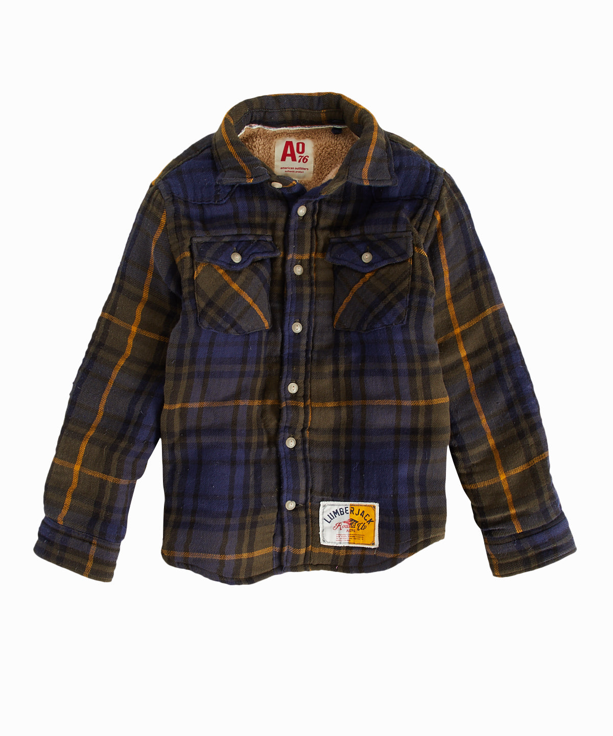 Teddy Forest Plaid Shirt Jacket