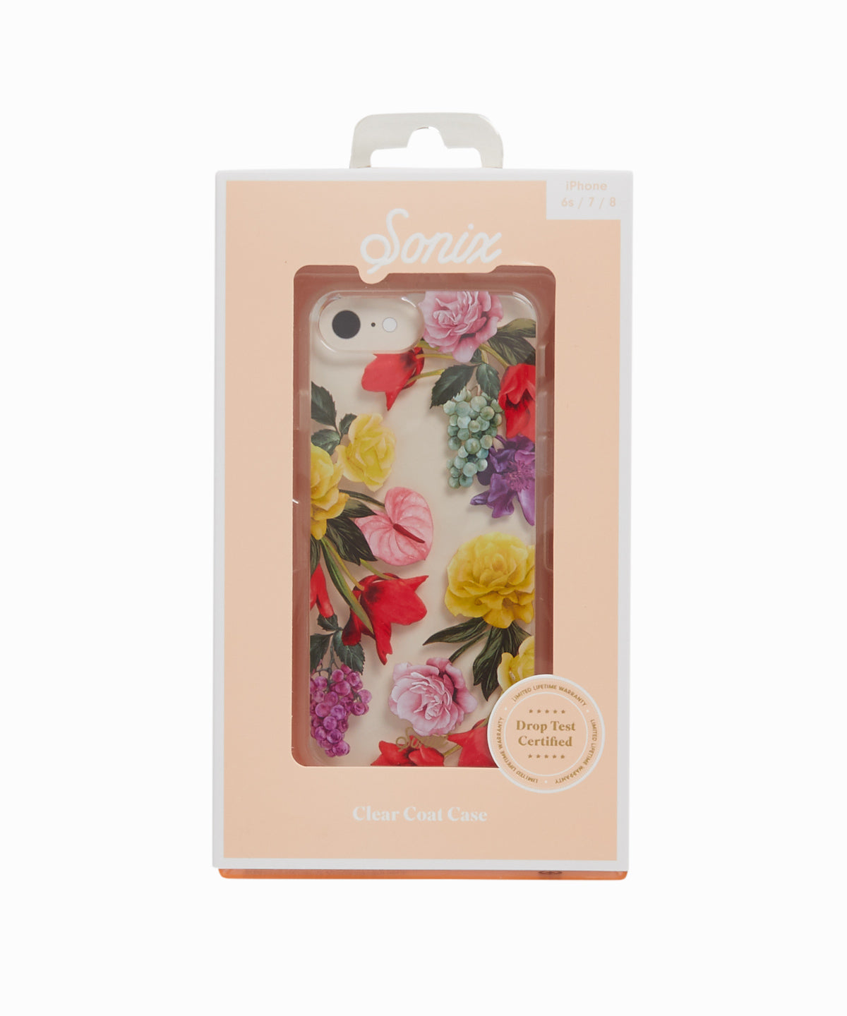 iPhone 6s/7/8 Clear Coat Floral Case