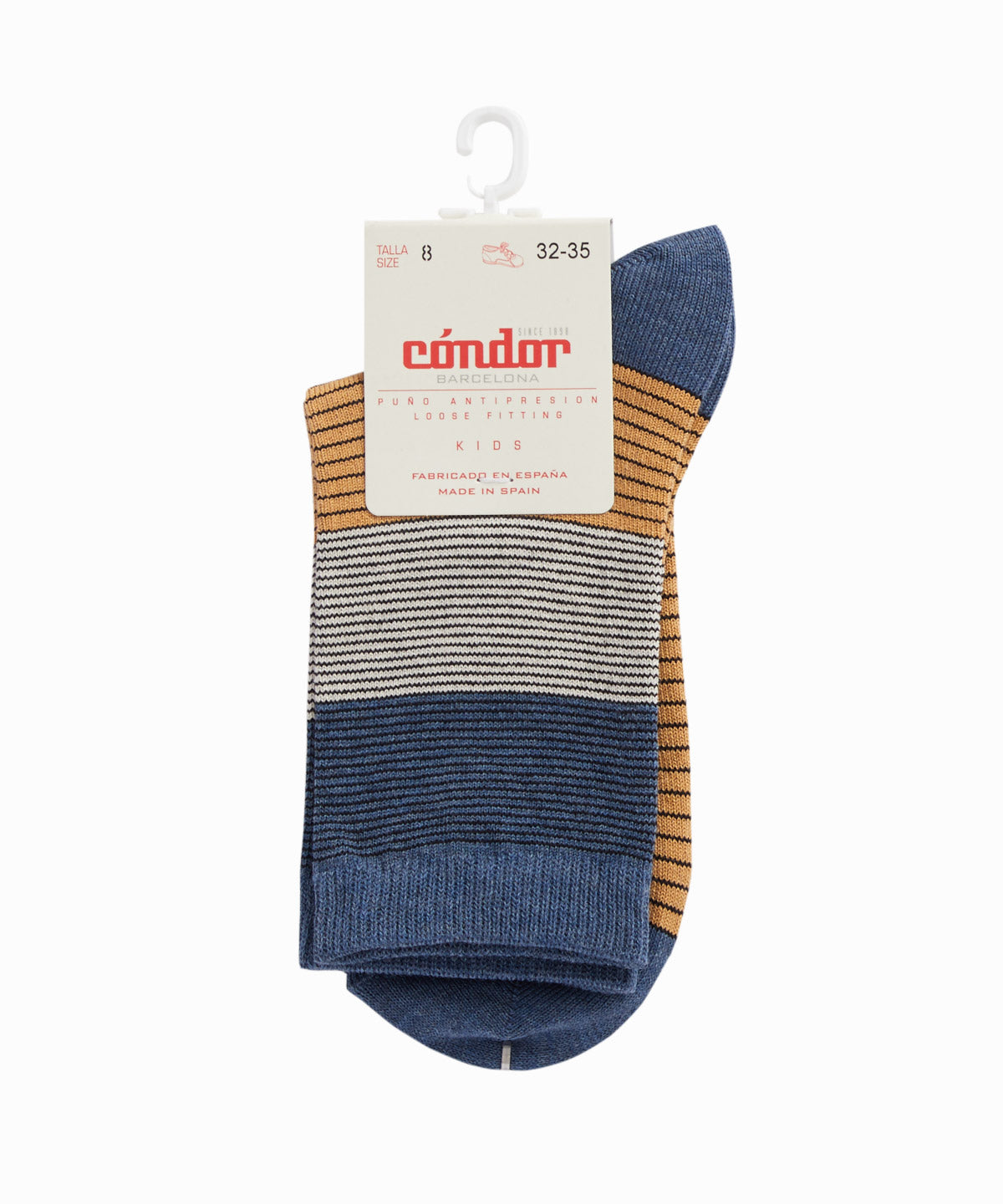 Narrow Striped Navy Socks