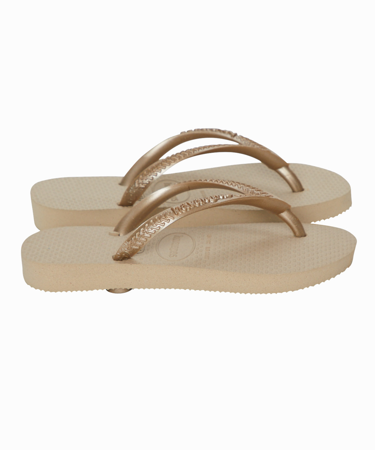 Slim Strap Metallic Flipflops