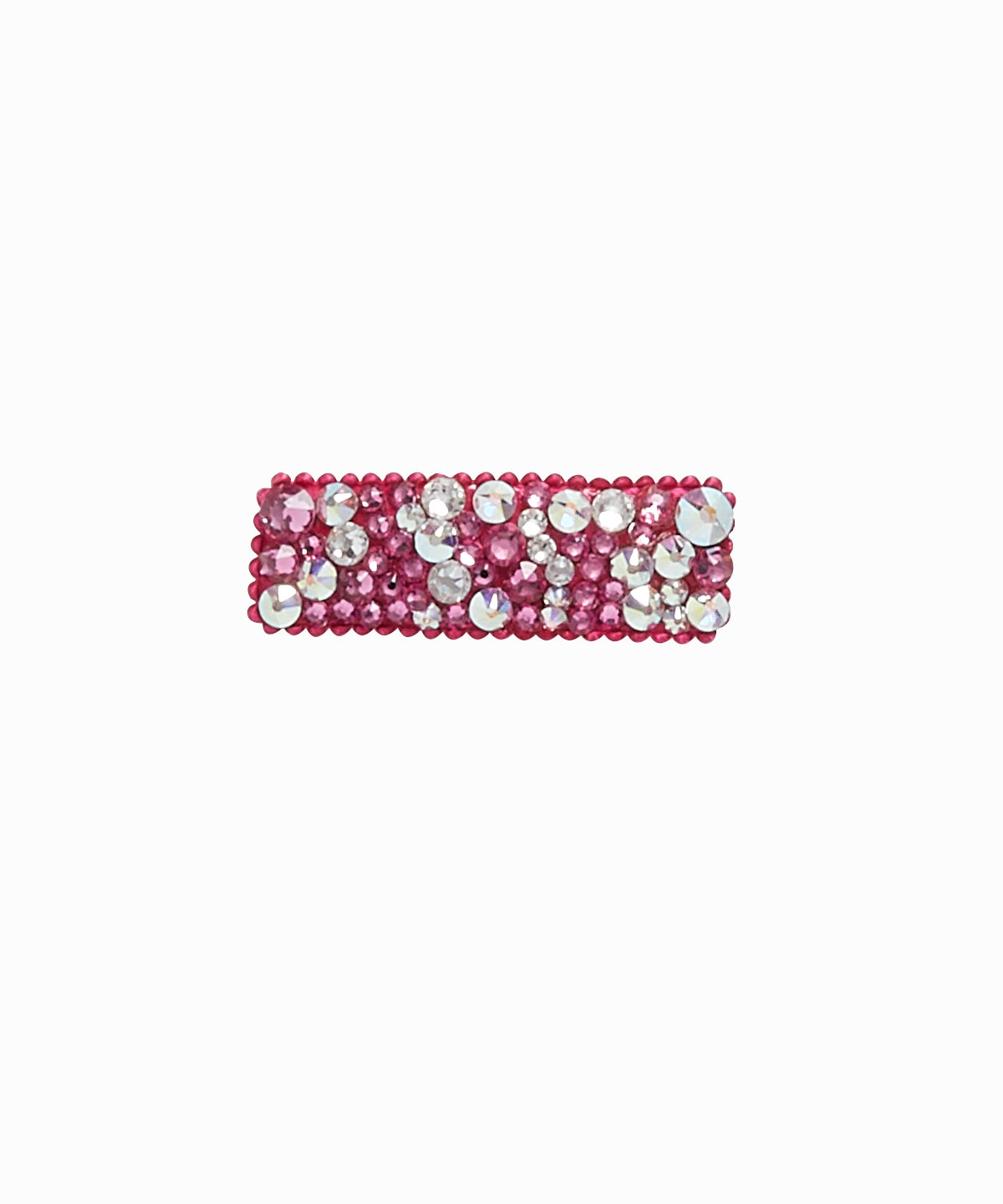 Pink and Silver Rhinestone Hair Clip