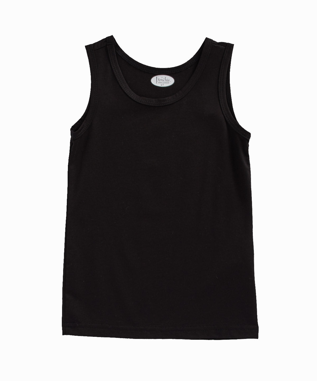 Black Stretch-Cotton and Modal Blend Tank