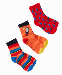 Rowen Red Trio of Socks