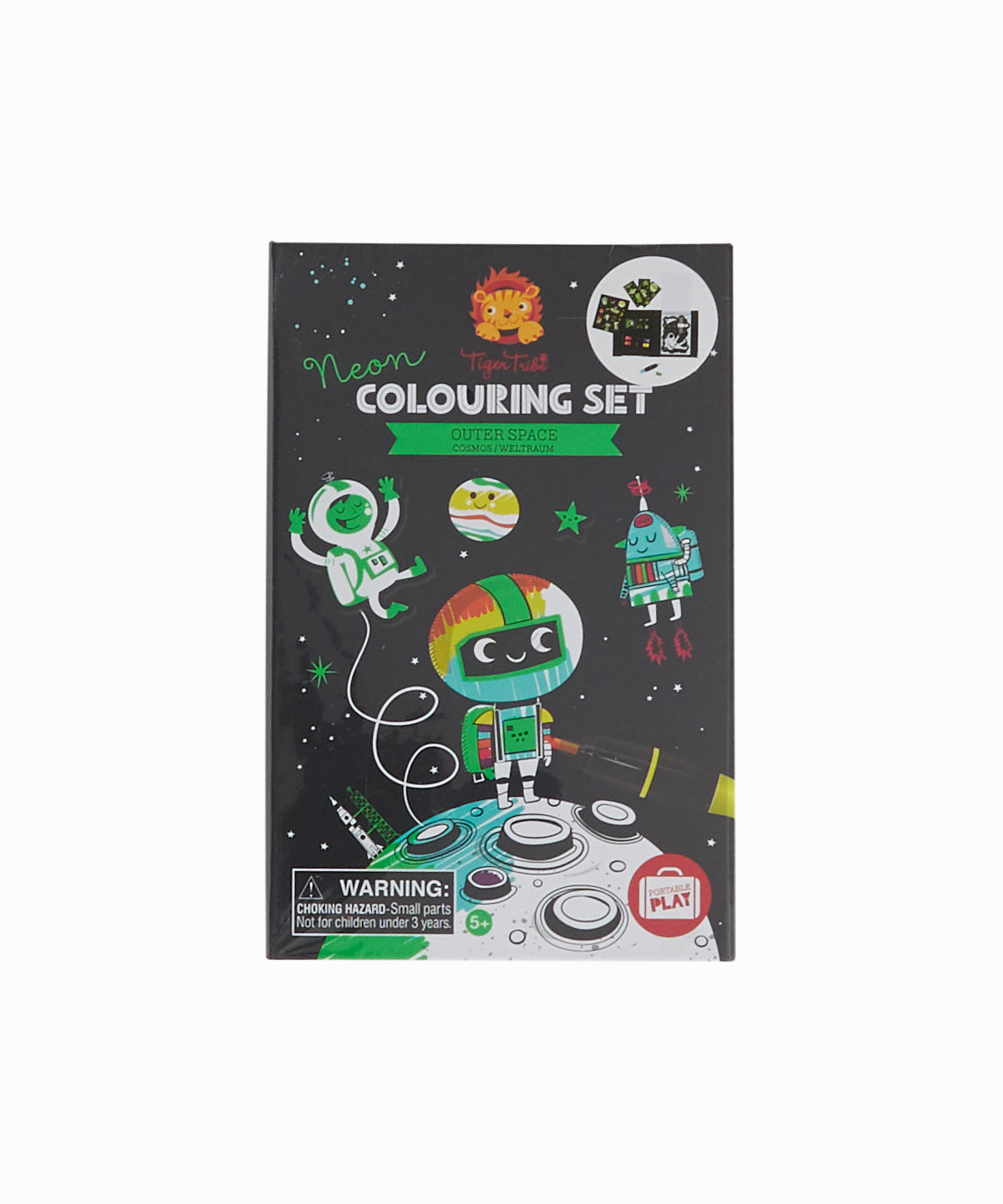 Neon Outer Space Coloring Set