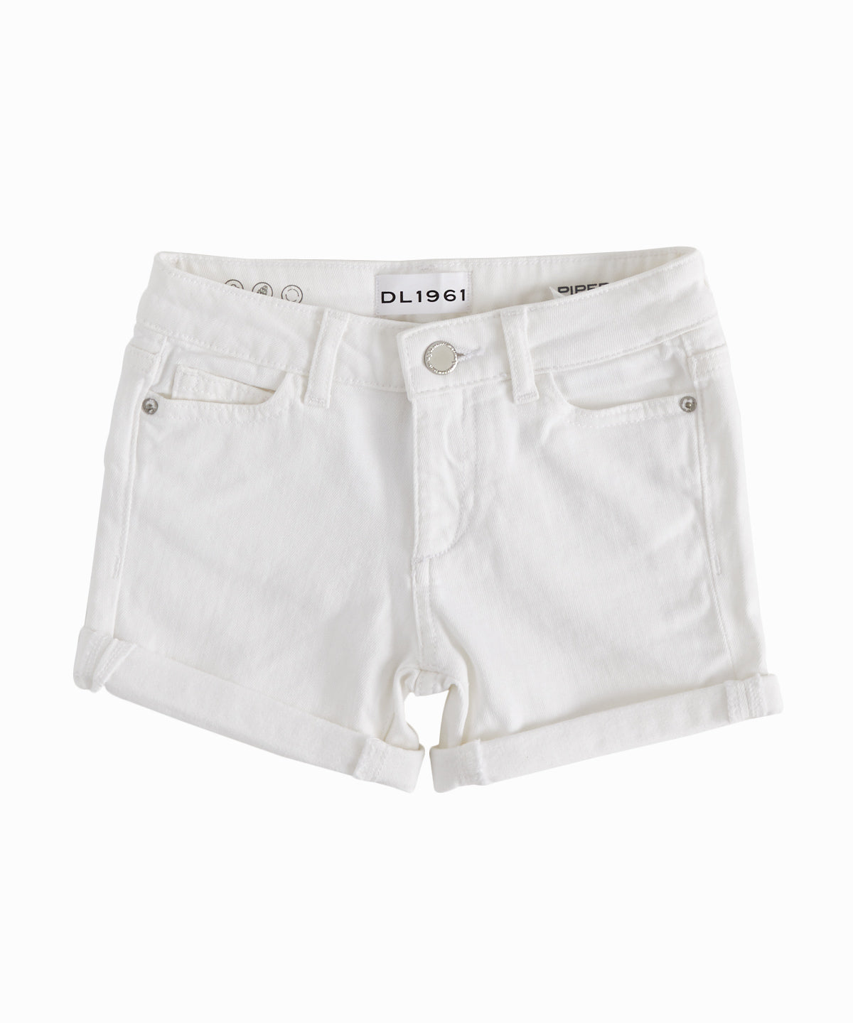 Piper Griffon White Denim Shorts