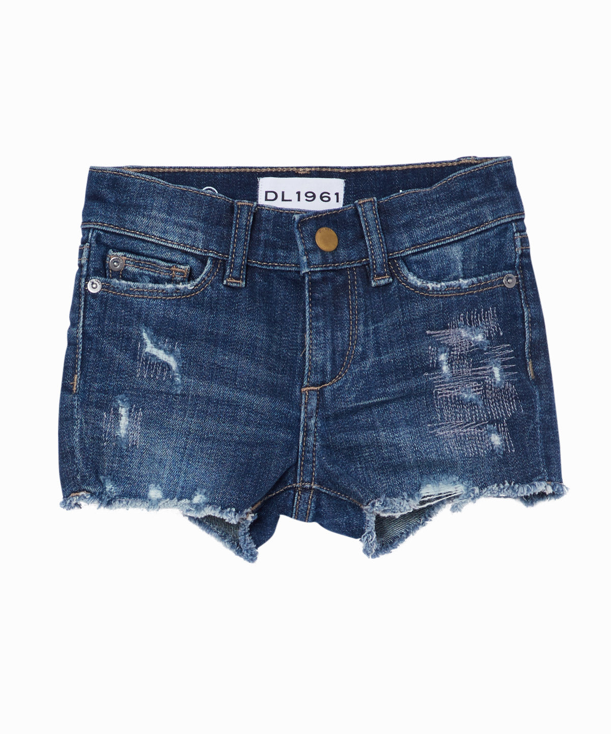 Lucy Rip-Repair Cut-Off Jean Shorts