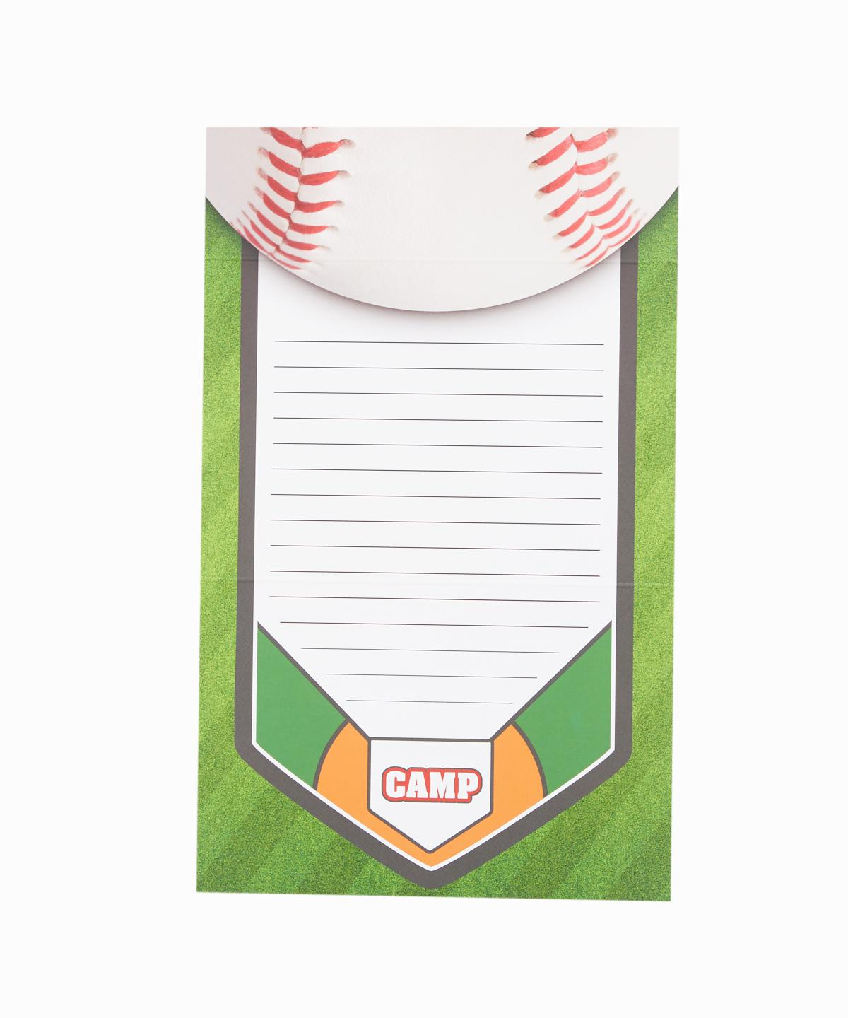 Fold-over Baseball Stationery