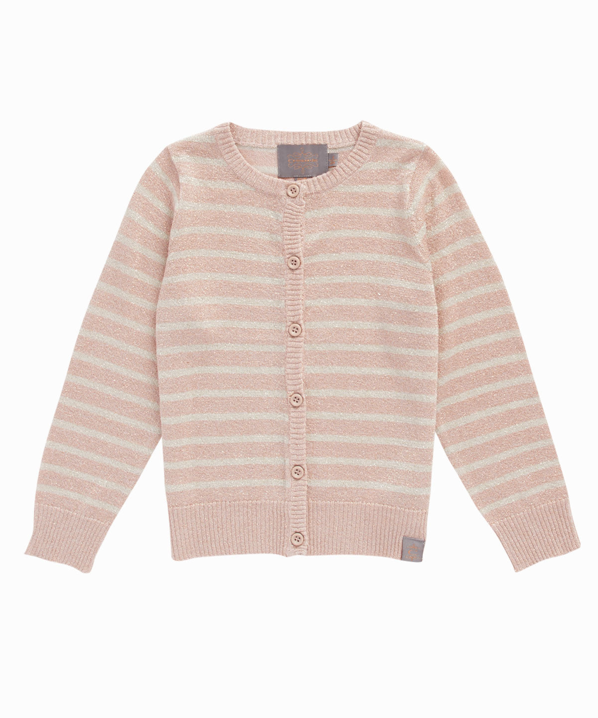 Striped Lurex Cardigan