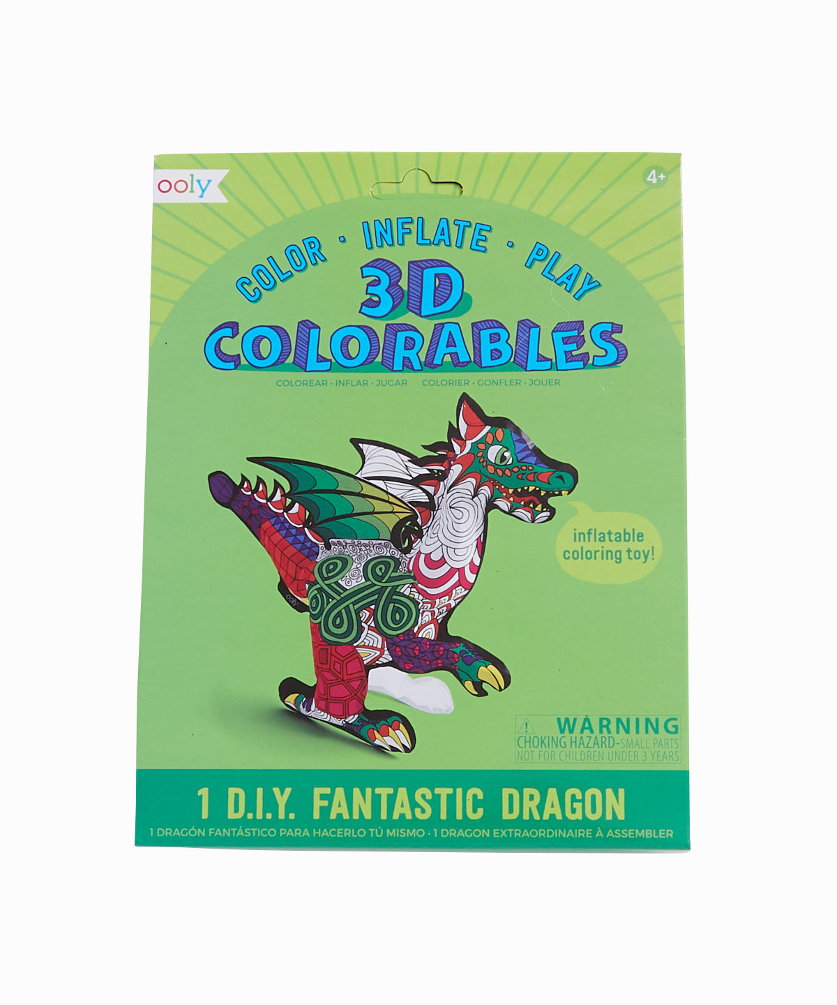 3D Fantastic Dinosaur Colorable