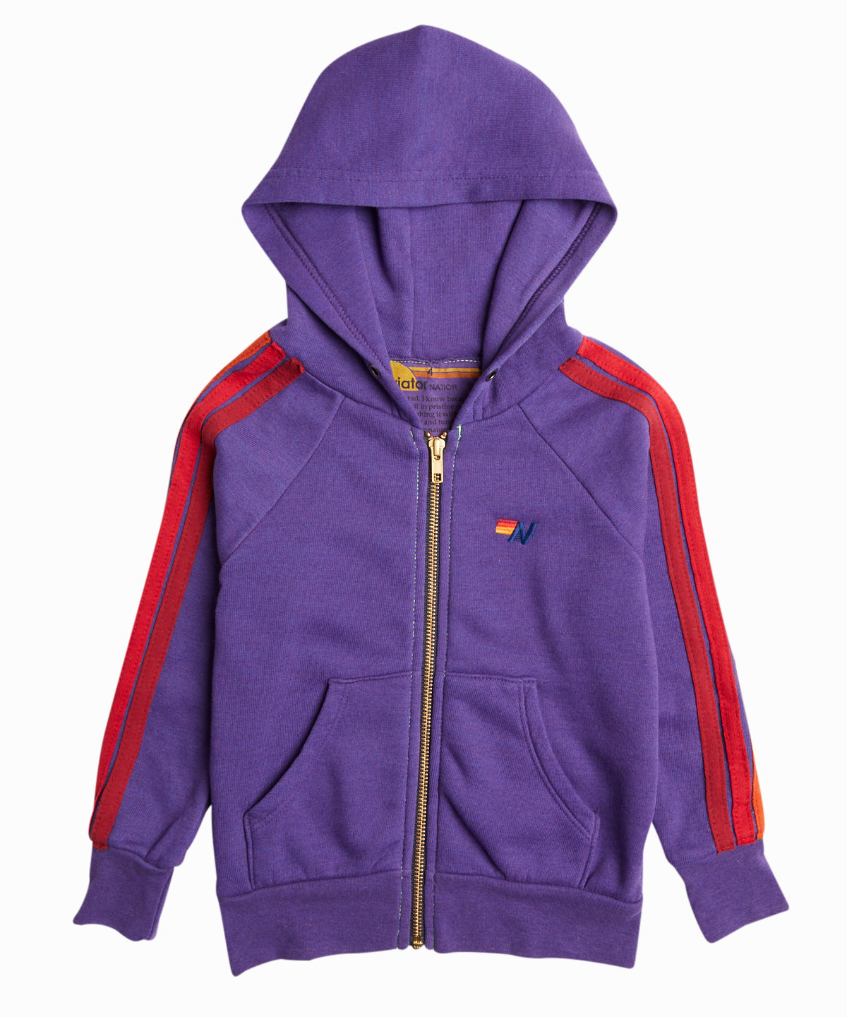5 Stripe Zip Up Hooded Sweatshirt