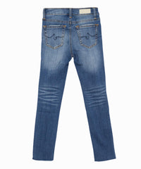 Grace Distressed Slim-Straight Jeans