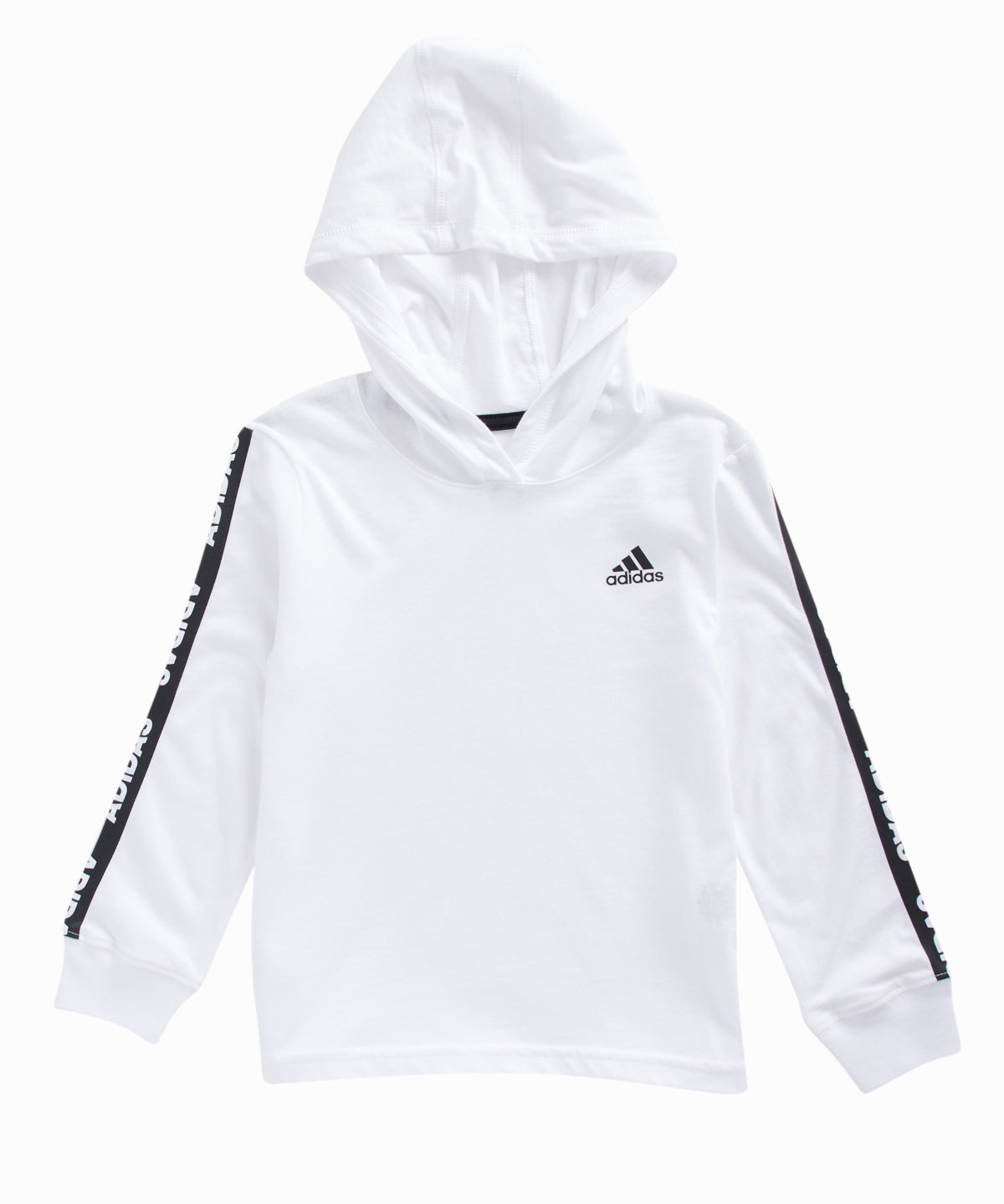 Branded Sleeve Hooded White Tee