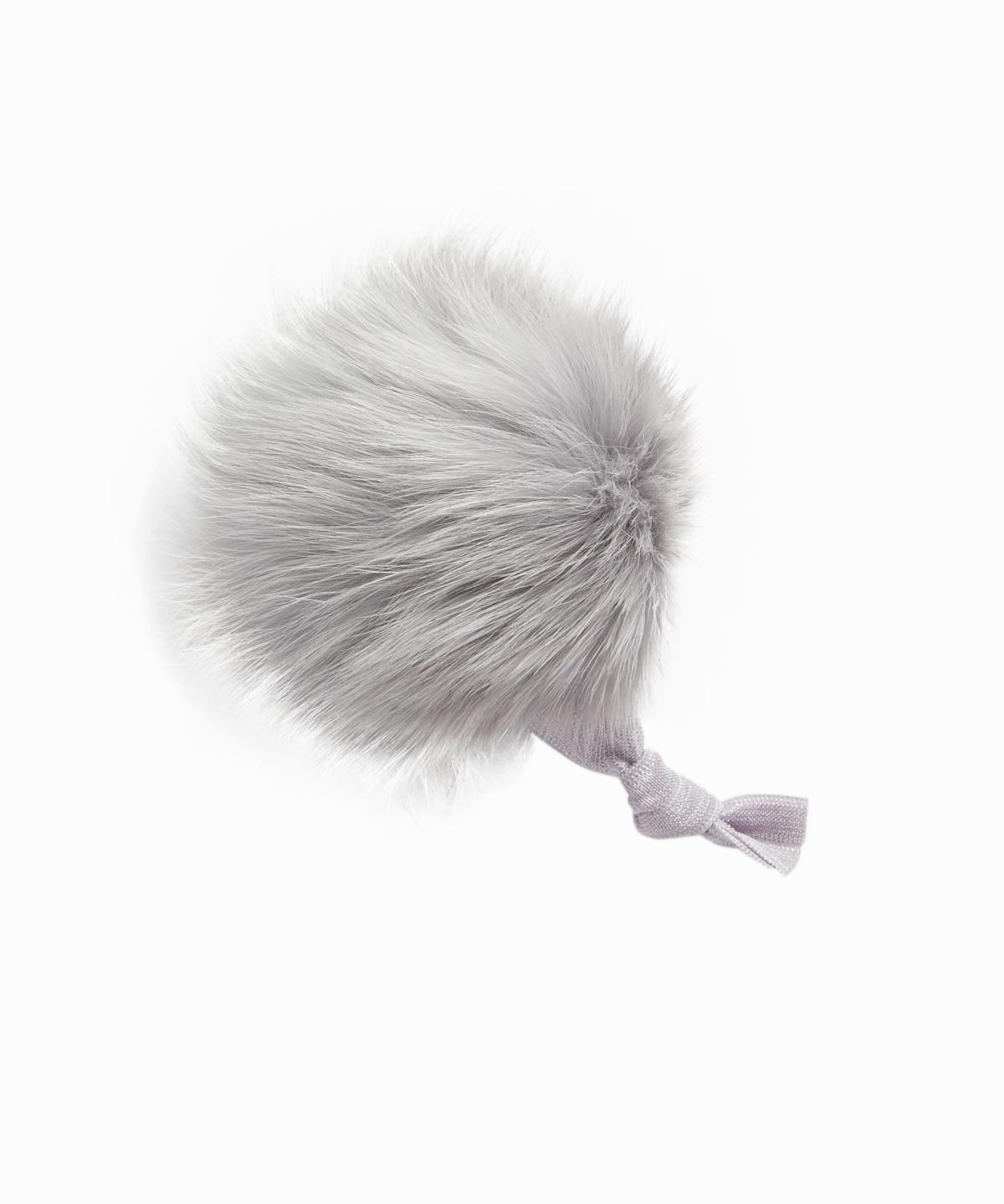 Fox Fur Grey Puff Ponytail Holder DO NOT ACTIVATE