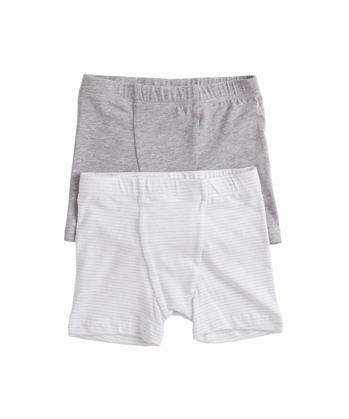 Set of 2 Grey Stripe Boxers
