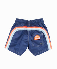 Rainbow Navy Swim Trunks